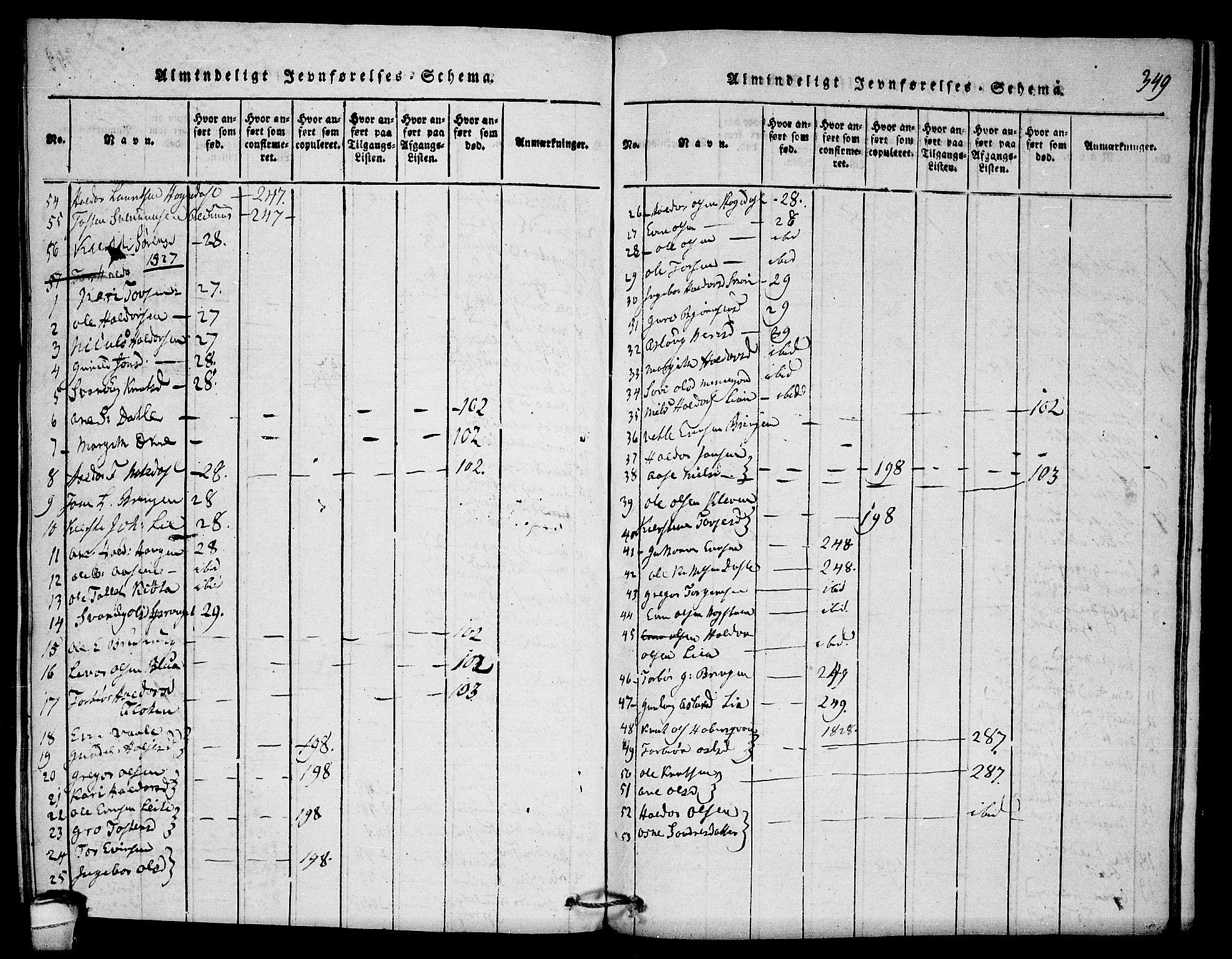 SAKO, Seljord kirkebøker, F/Fb/L0001: Ministerialbok nr. II 1, 1815-1831, s. 349