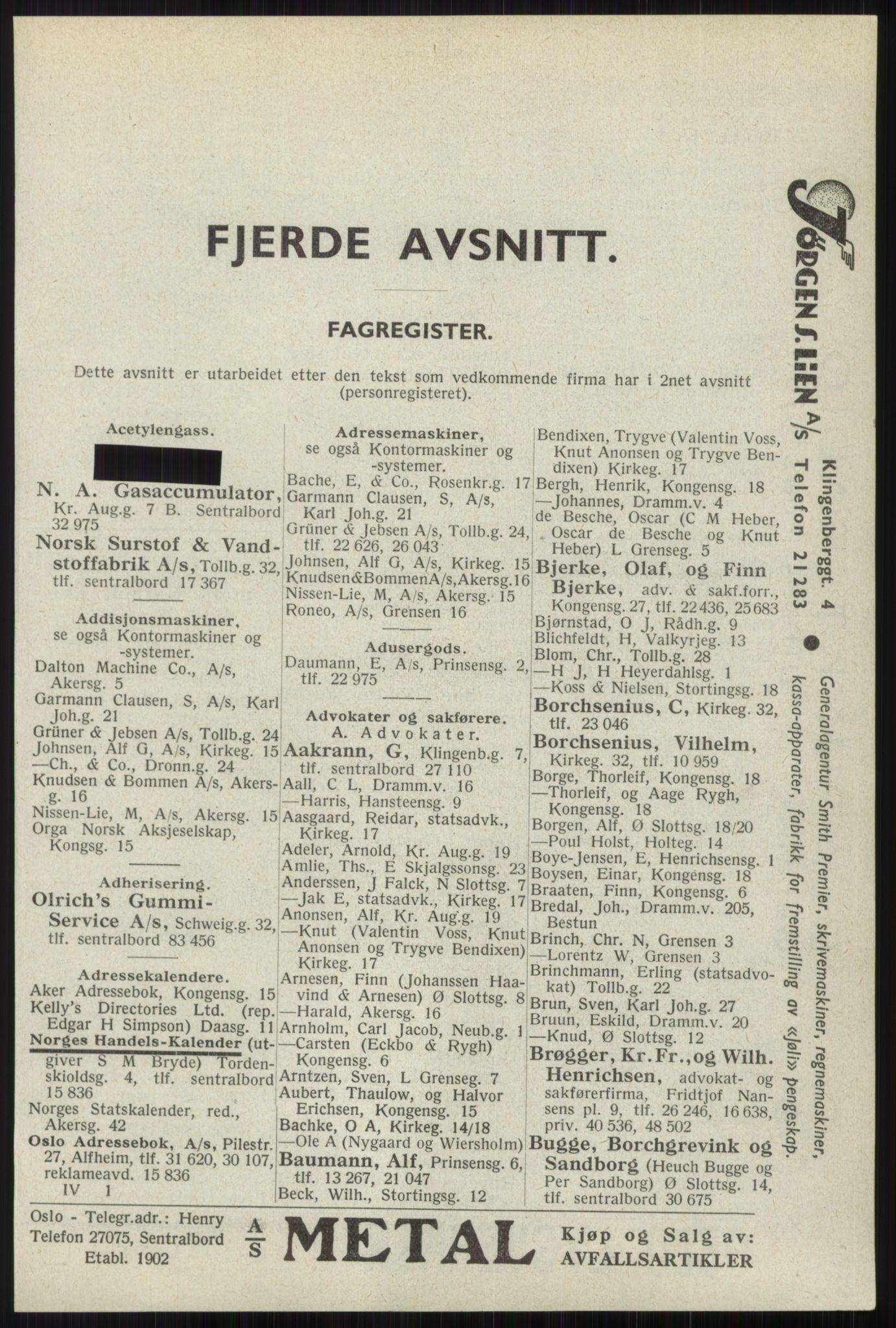 RA, Oslo adressebok (publikasjon)*, 1941, s. 2681