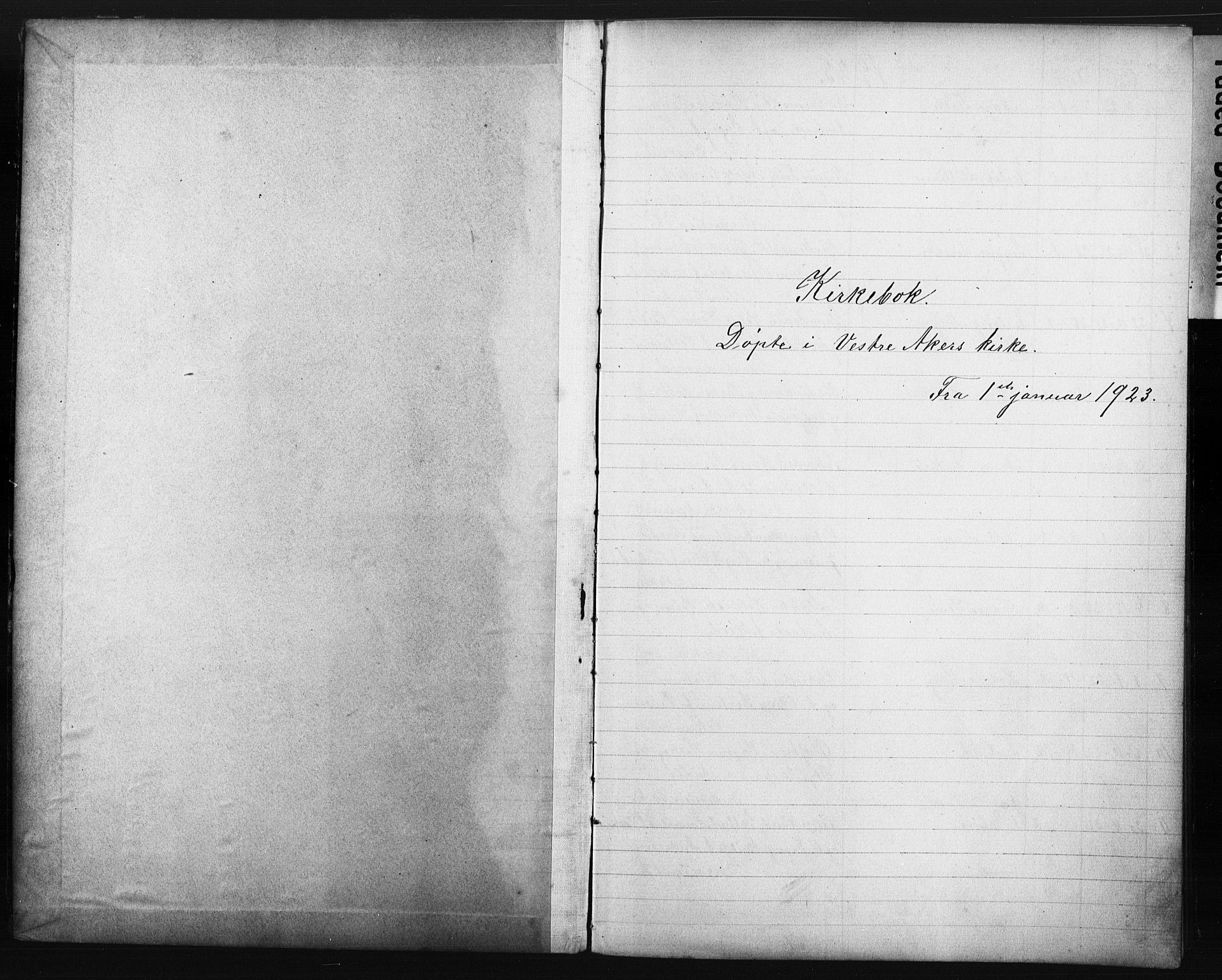SAO, Vestre Aker prestekontor Kirkebøker, G/Ga/L0006: Klokkerbok nr. I 6, 1923-1932