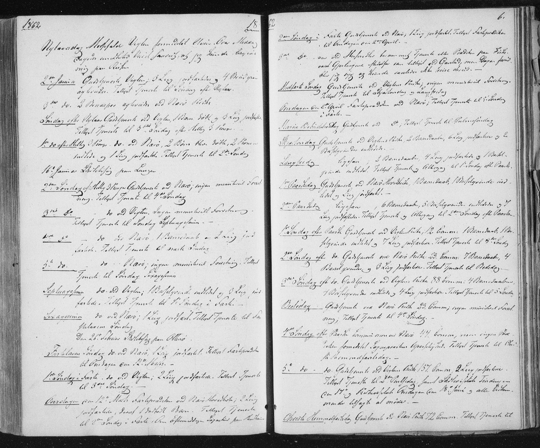 SAT, Ministerialprotokoller, klokkerbøker og fødselsregistre - Nord-Trøndelag, 784/L0670: Ministerialbok nr. 784A05, 1860-1876, s. 6