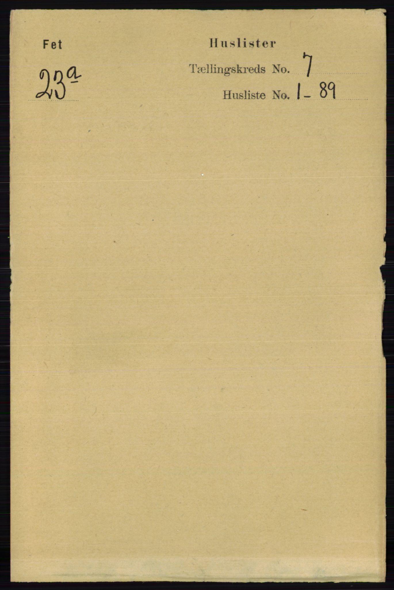 RA, Folketelling 1891 for 0227 Fet herred, 1891, s. 2350