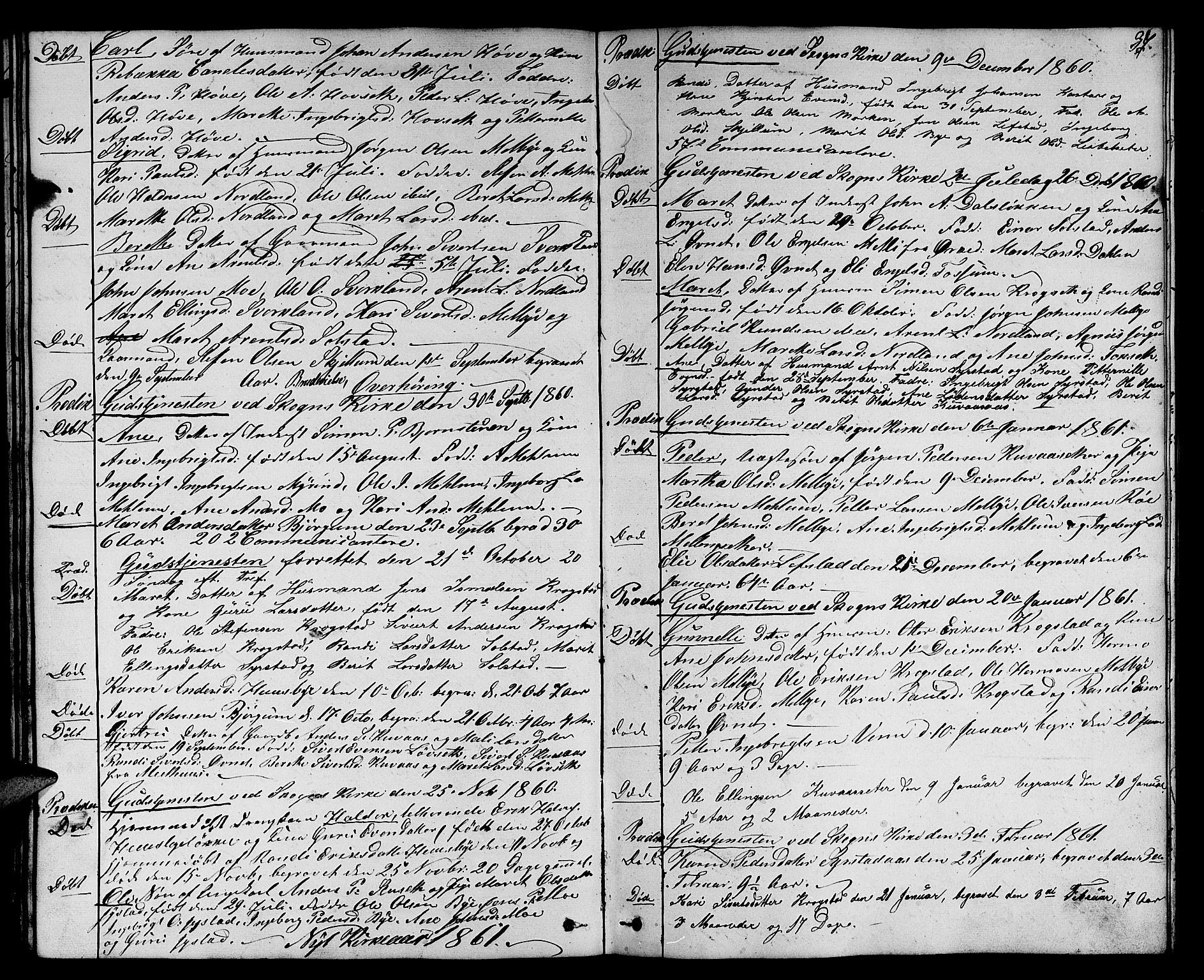 SAT, Ministerialprotokoller, klokkerbøker og fødselsregistre - Sør-Trøndelag, 667/L0797: Klokkerbok nr. 667C02, 1849-1867, s. 37