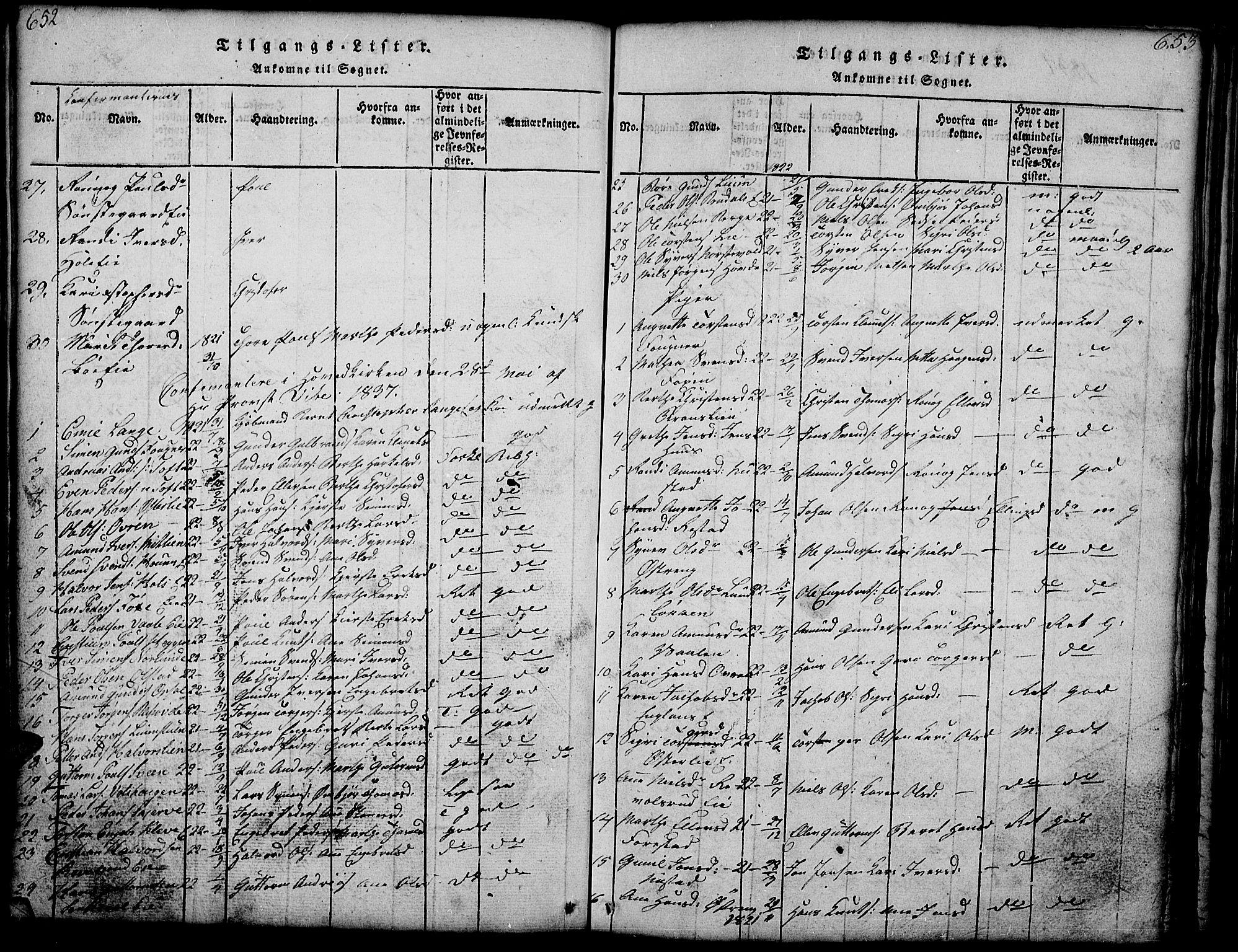 SAH, Gausdal prestekontor, Klokkerbok nr. 1, 1817-1848, s. 652-653