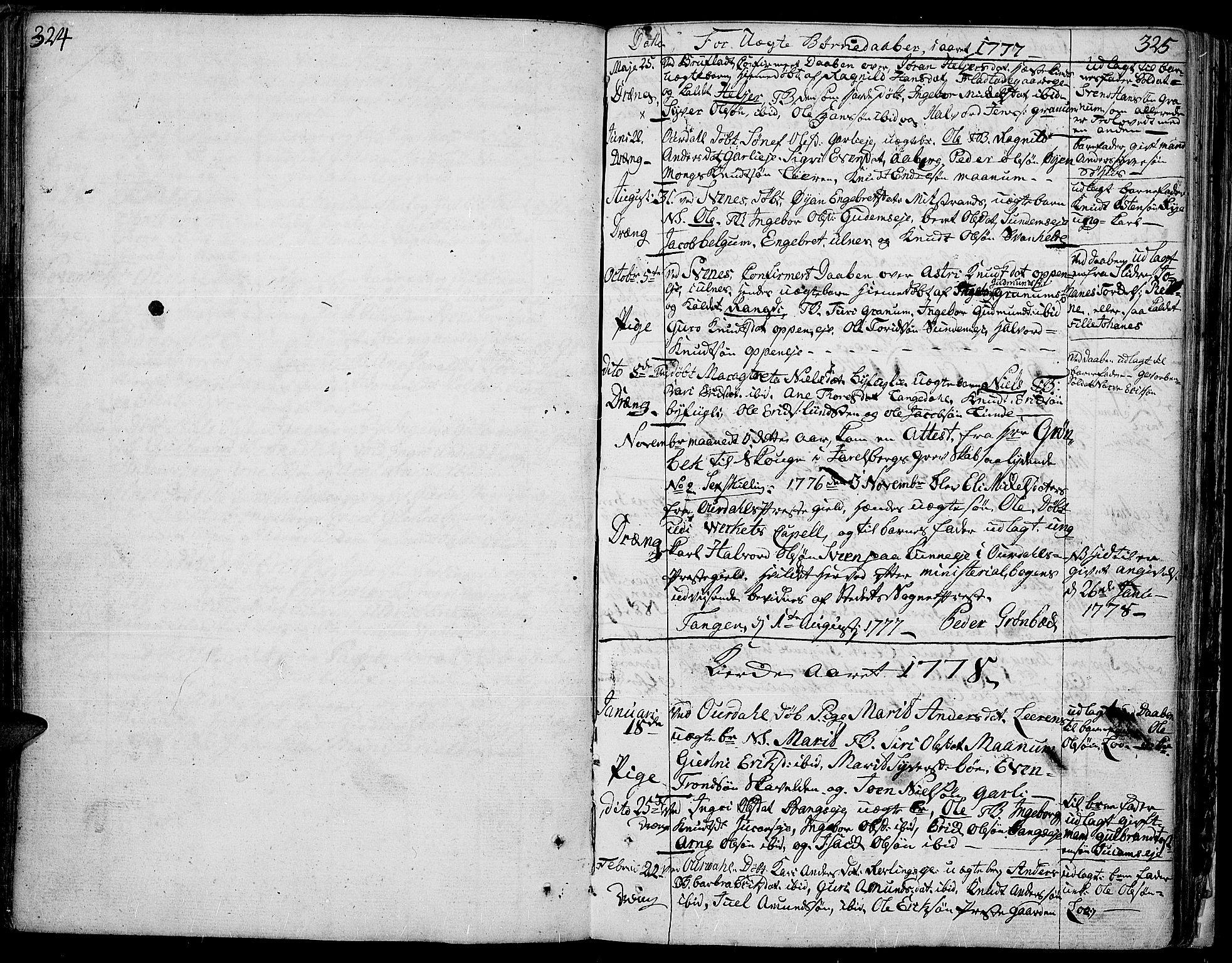 SAH, Aurdal prestekontor, Ministerialbok nr. 5, 1763-1781, s. 324-325