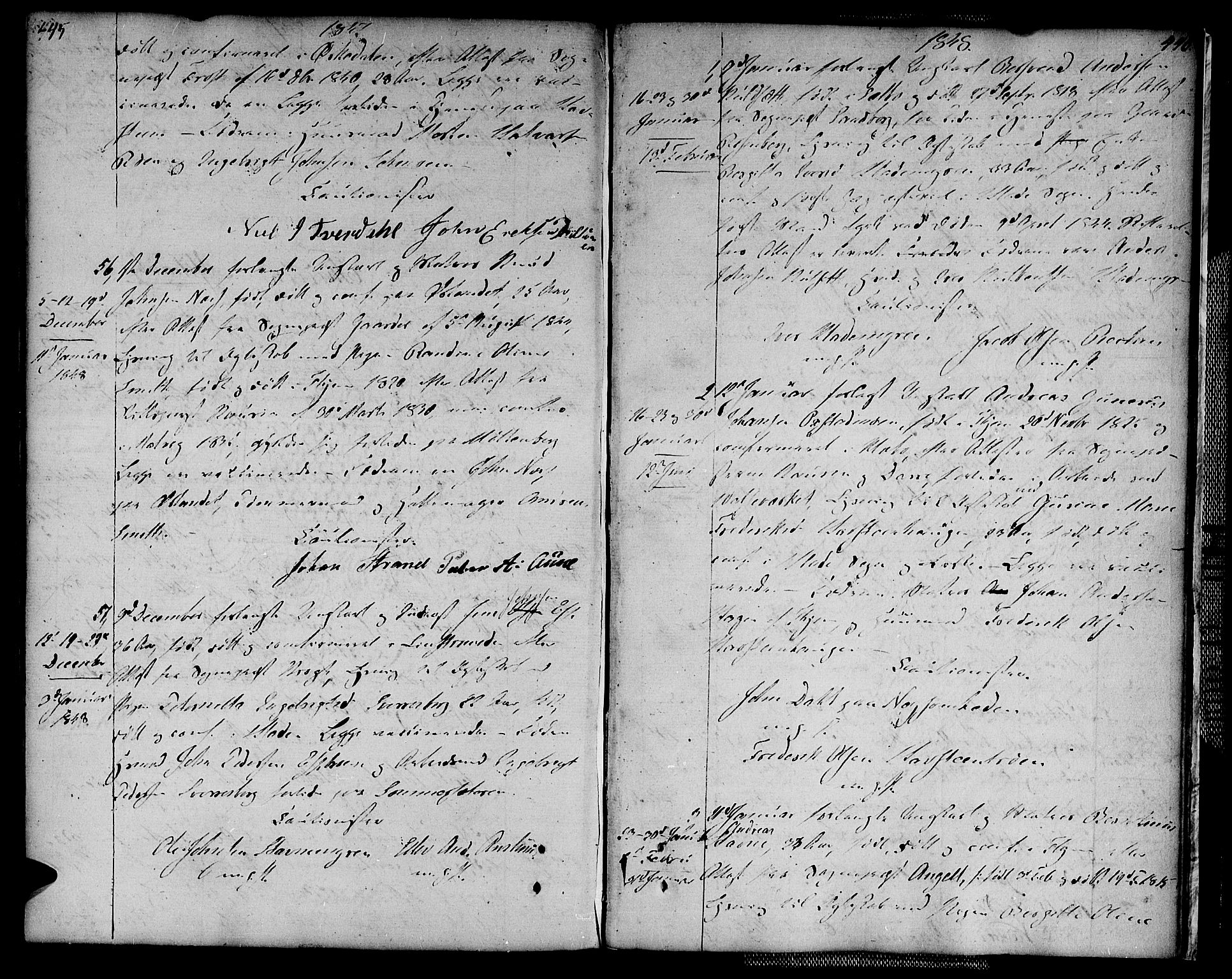 SAT, Ministerialprotokoller, klokkerbøker og fødselsregistre - Sør-Trøndelag, 604/L0181: Ministerialbok nr. 604A02, 1798-1817, s. 445-446