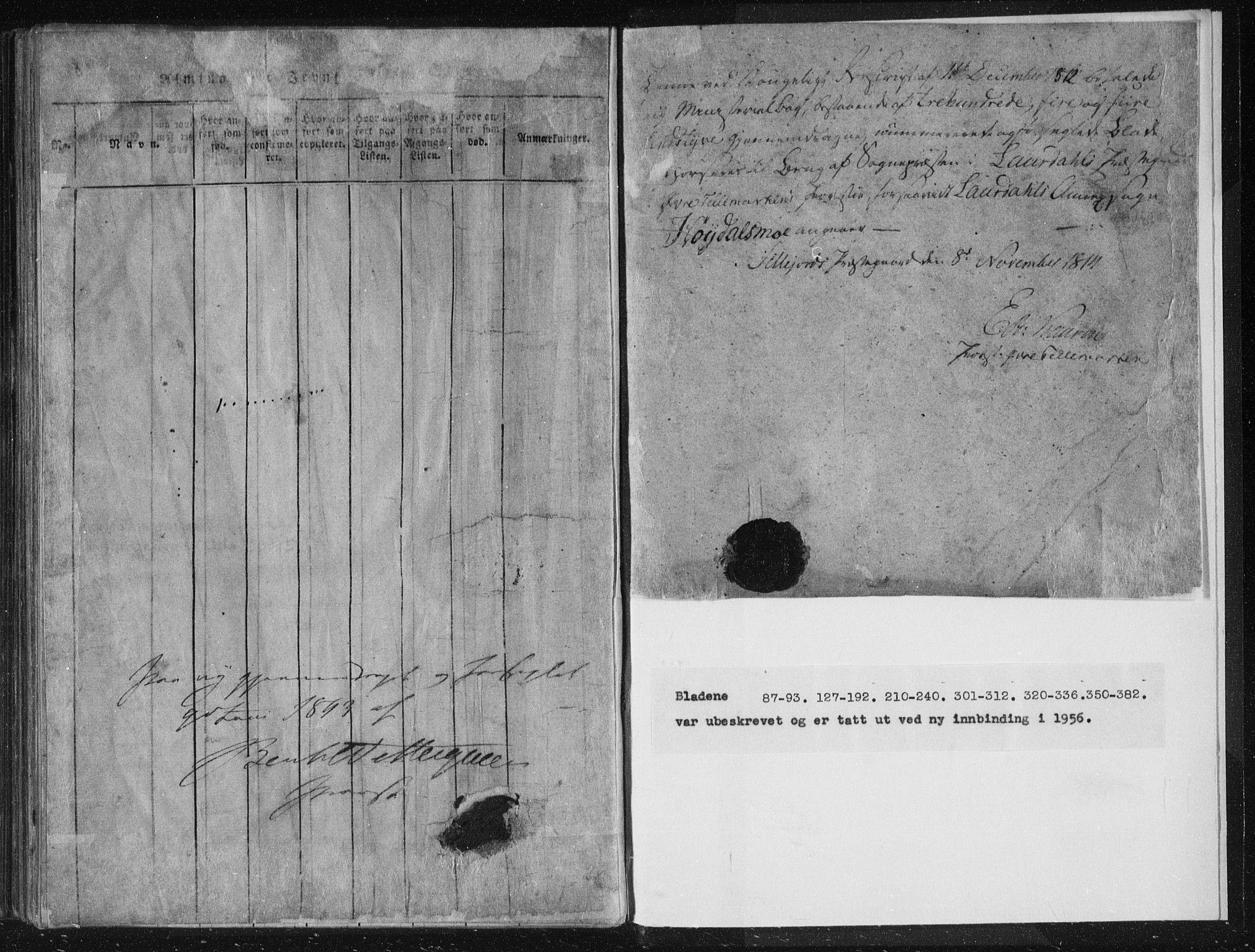 SAKO, Lårdal kirkebøker, F/Fc/L0001: Ministerialbok nr. III 1, 1815-1860