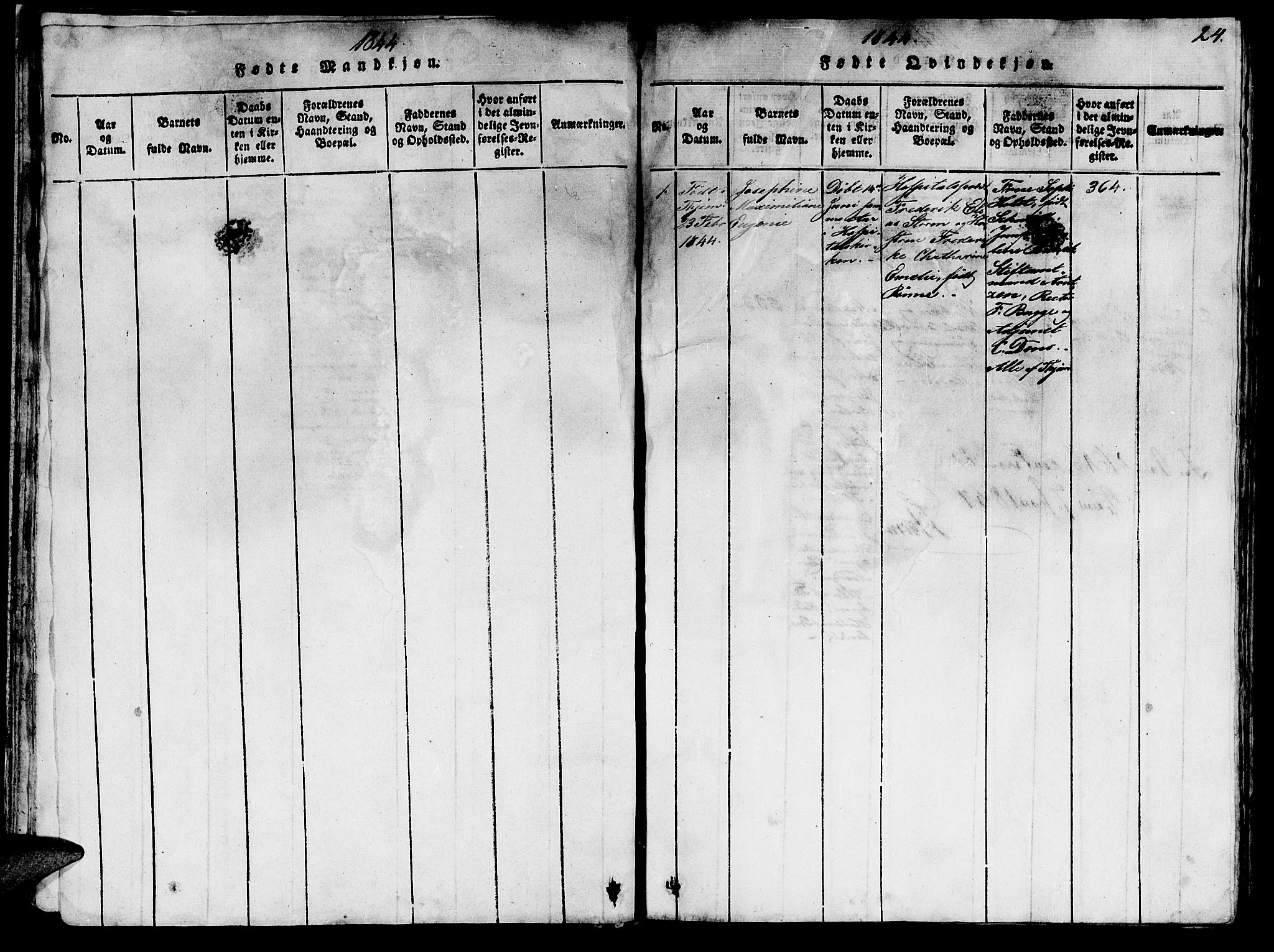 SAT, Ministerialprotokoller, klokkerbøker og fødselsregistre - Sør-Trøndelag, 623/L0478: Klokkerbok nr. 623C01, 1815-1873, s. 24