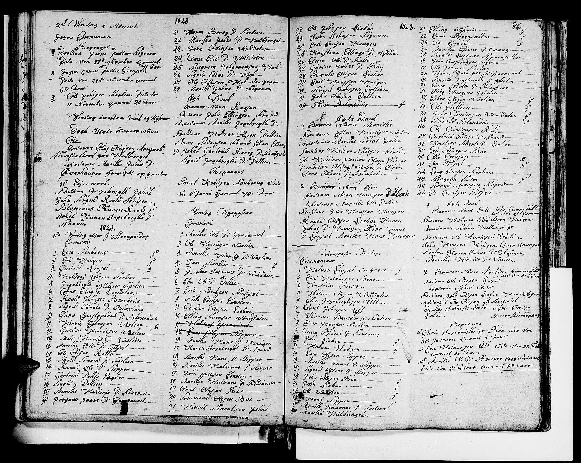 SAT, Ministerialprotokoller, klokkerbøker og fødselsregistre - Sør-Trøndelag, 679/L0921: Klokkerbok nr. 679C01, 1792-1840, s. 86