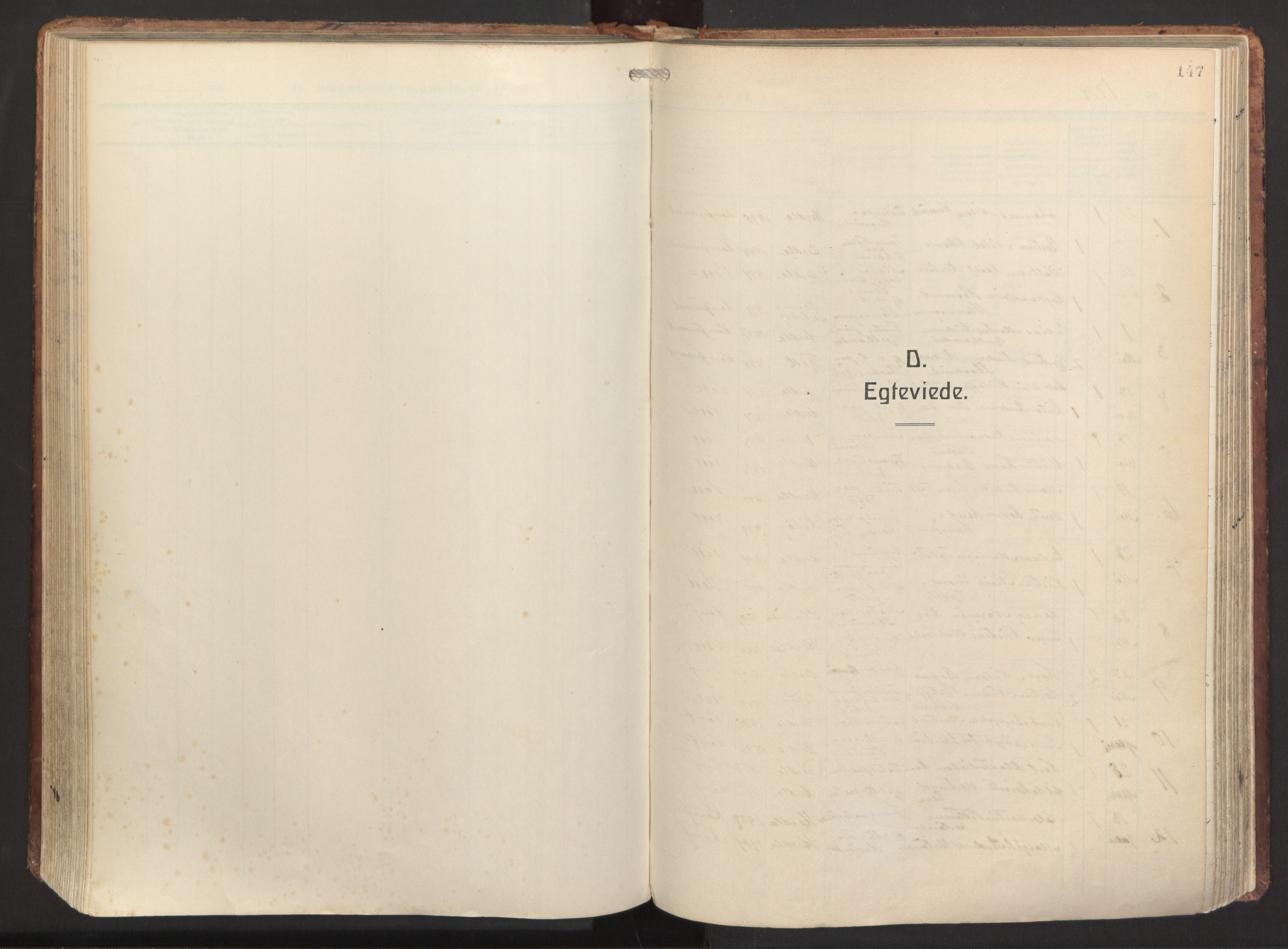 SAB, Herdla Sokneprestembete, H/Haa: Ministerialbok nr. A 6, 1918-1933, s. 147