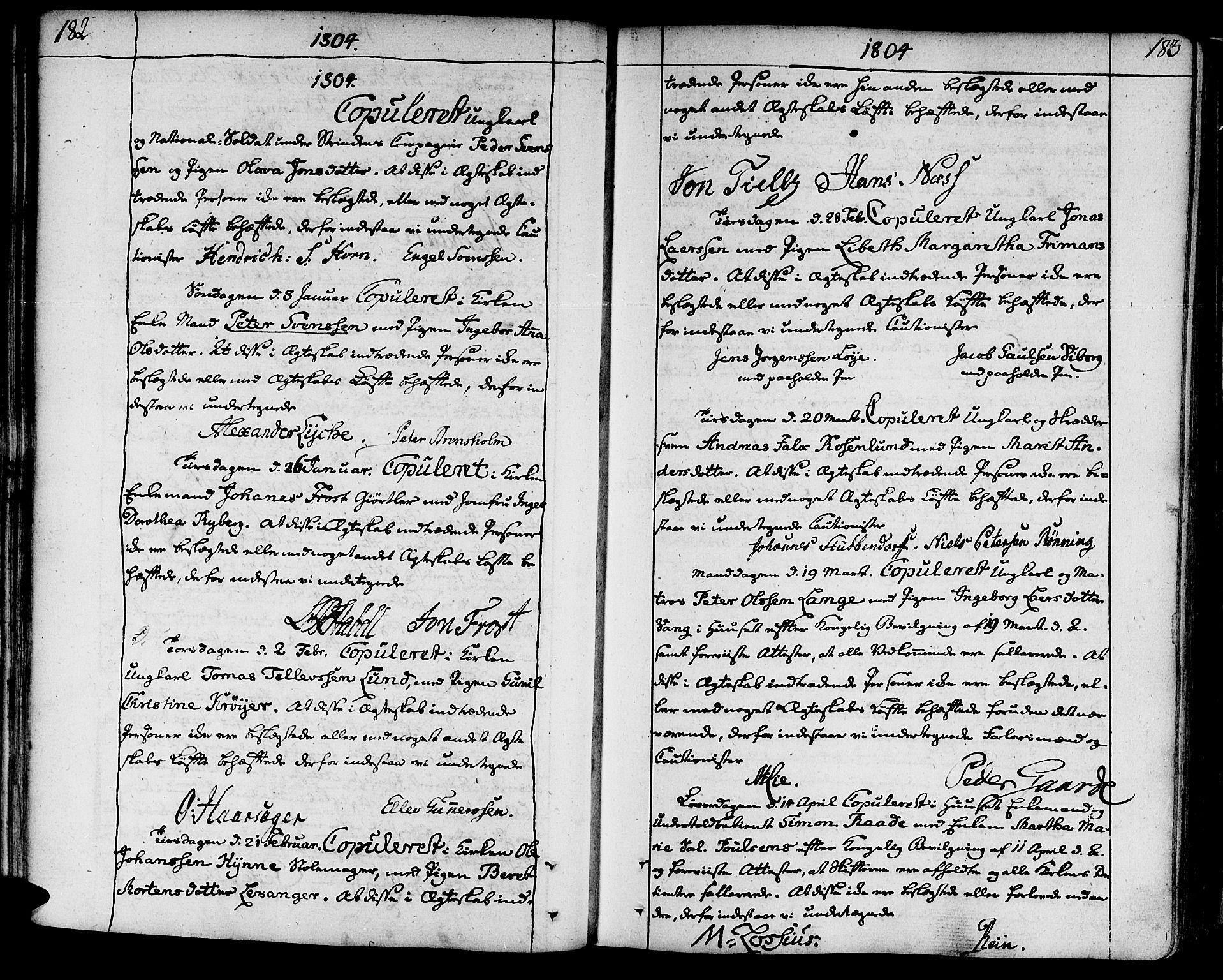 SAT, Ministerialprotokoller, klokkerbøker og fødselsregistre - Sør-Trøndelag, 602/L0105: Ministerialbok nr. 602A03, 1774-1814, s. 182-183