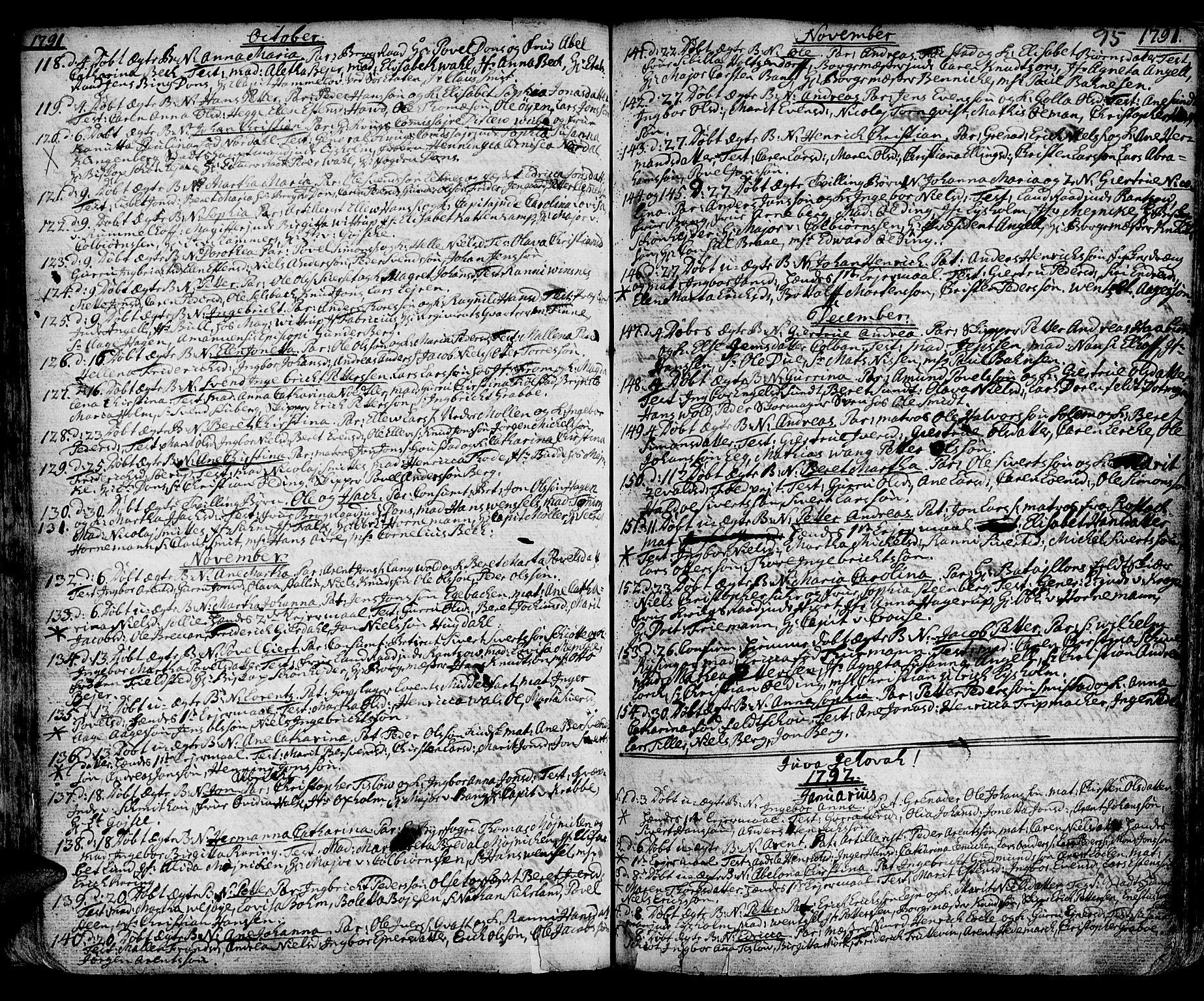 SAT, Ministerialprotokoller, klokkerbøker og fødselsregistre - Sør-Trøndelag, 601/L0039: Ministerialbok nr. 601A07, 1770-1819, s. 95