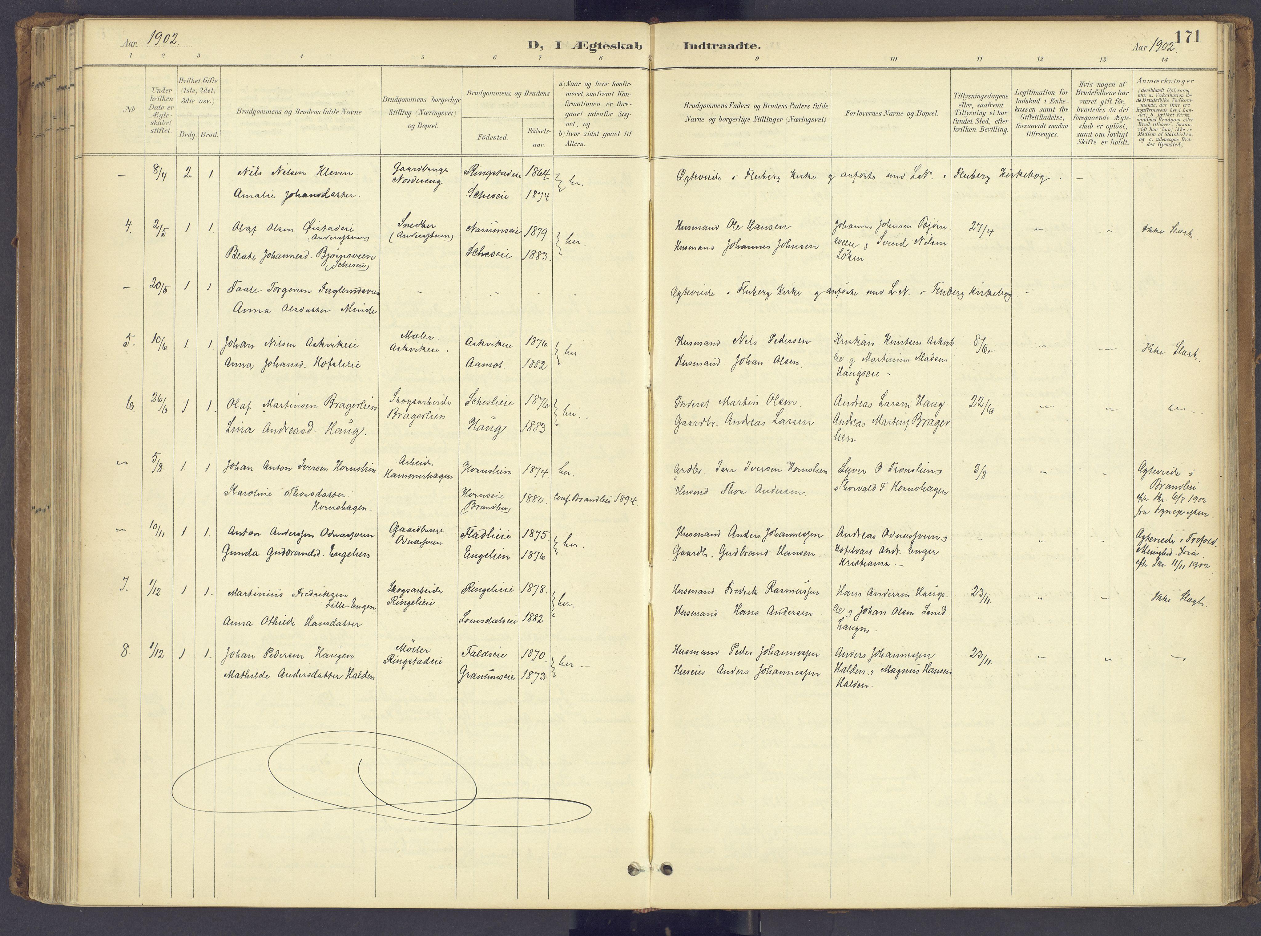 SAH, Søndre Land prestekontor, K/L0006: Ministerialbok nr. 6, 1895-1904, s. 171