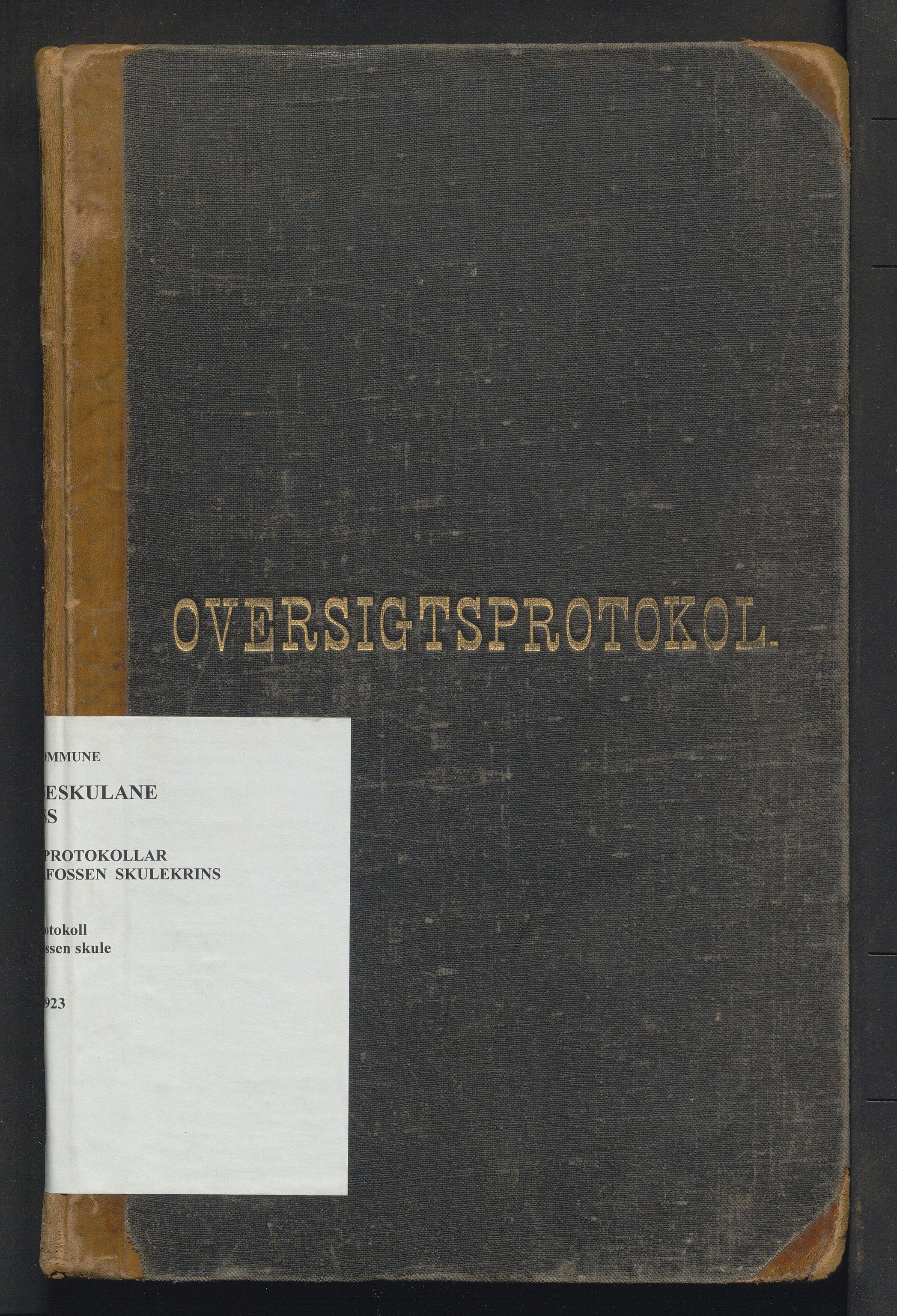IKAH, Voss kommune. Barneskulane, F/Fe/L0005: Skuleprotokoll for Palmafossen skule, 1892-1923