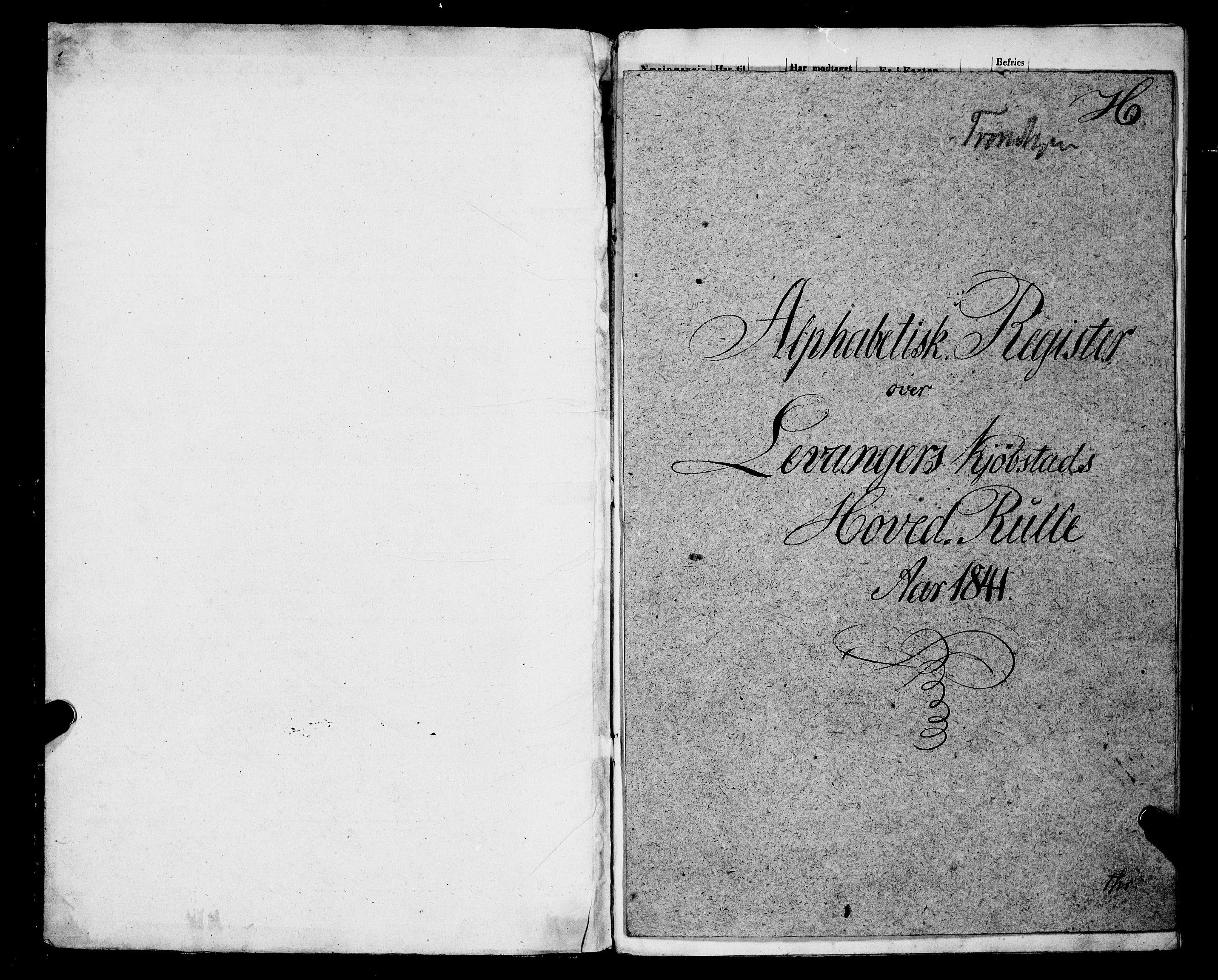 SAT, Sjøinnrulleringen - Trondhjemske distrikt, 01/L0312: --, 1841-1849