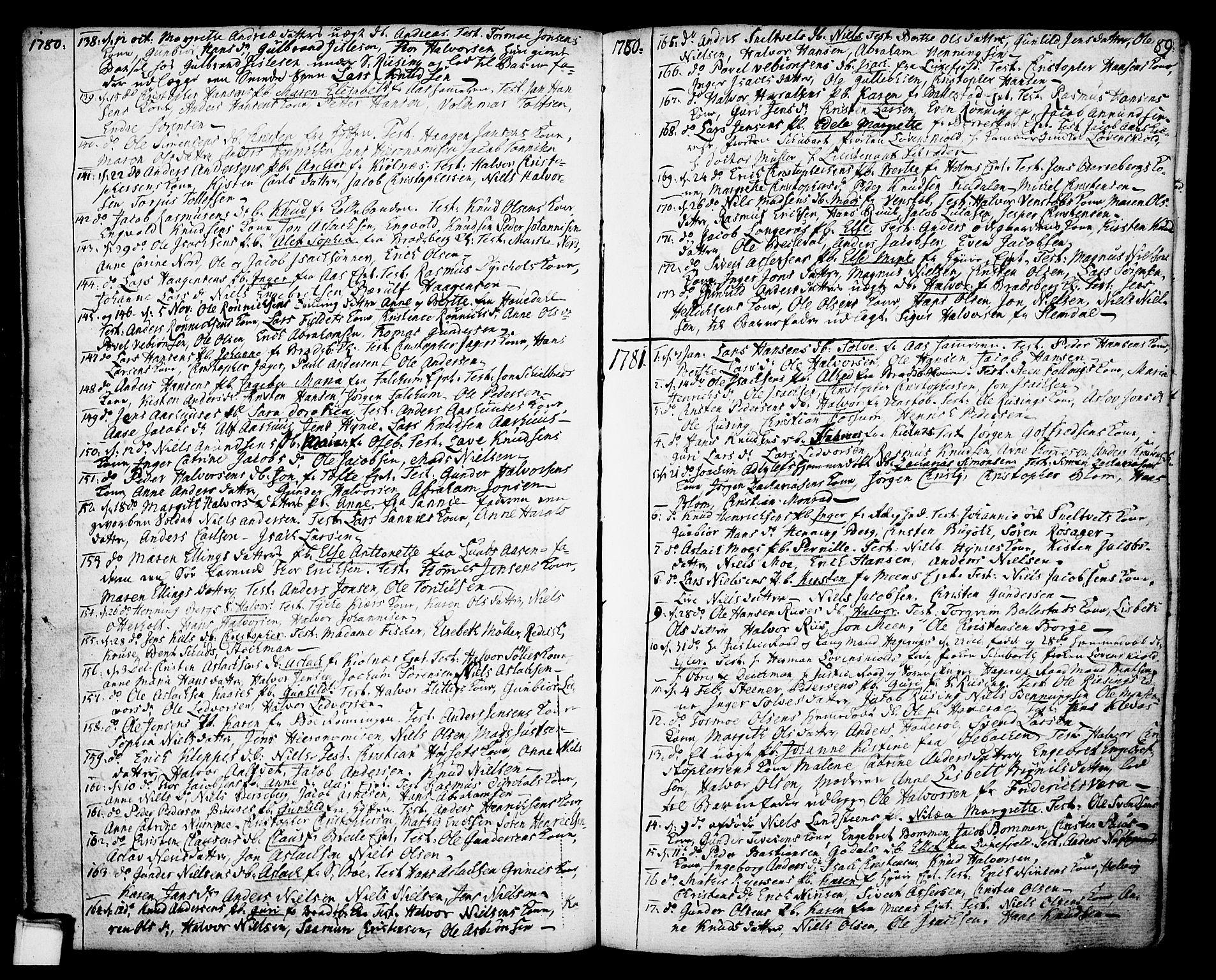 SAKO, Gjerpen kirkebøker, F/Fa/L0002: Ministerialbok nr. 2, 1747-1795, s. 89