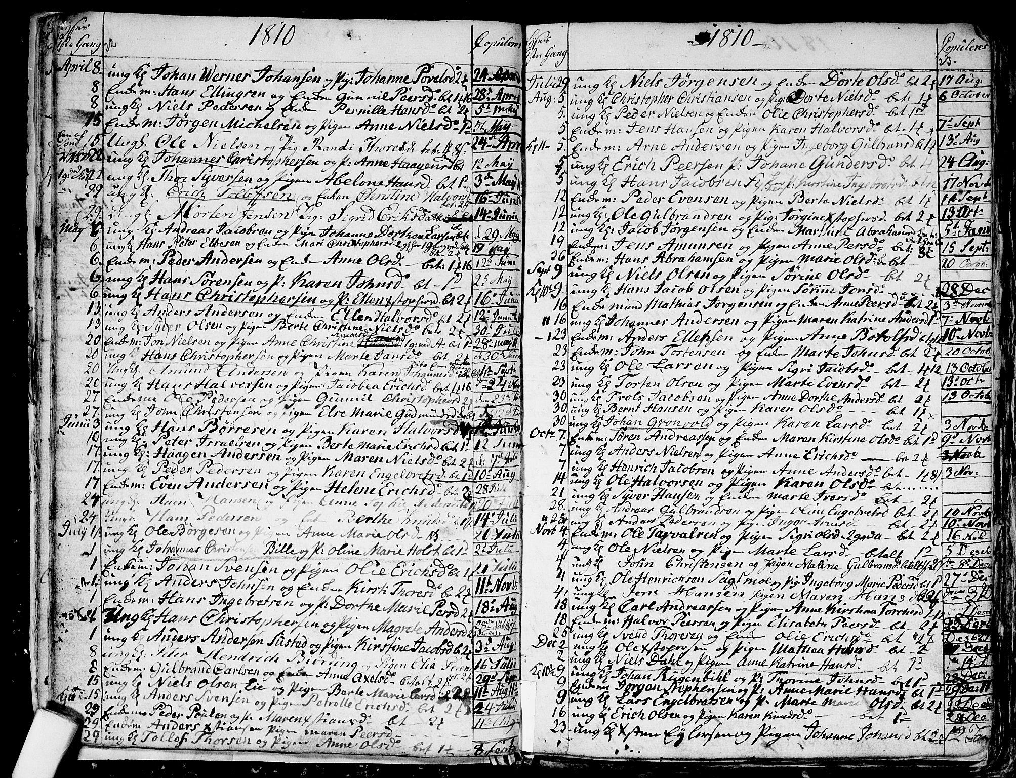 SAO, Aker prestekontor kirkebøker, G/L0001: Klokkerbok nr. 1, 1796-1826, s. 22-23