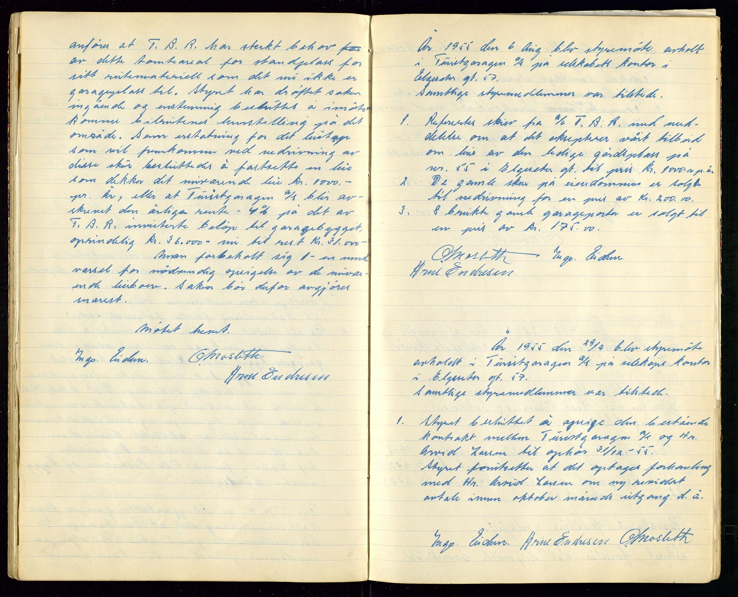 SAST, PA 1515 - Turistgarasjen A/S, A/L0001: Forhandlingsprotokoll, 1937-1958, s. 39