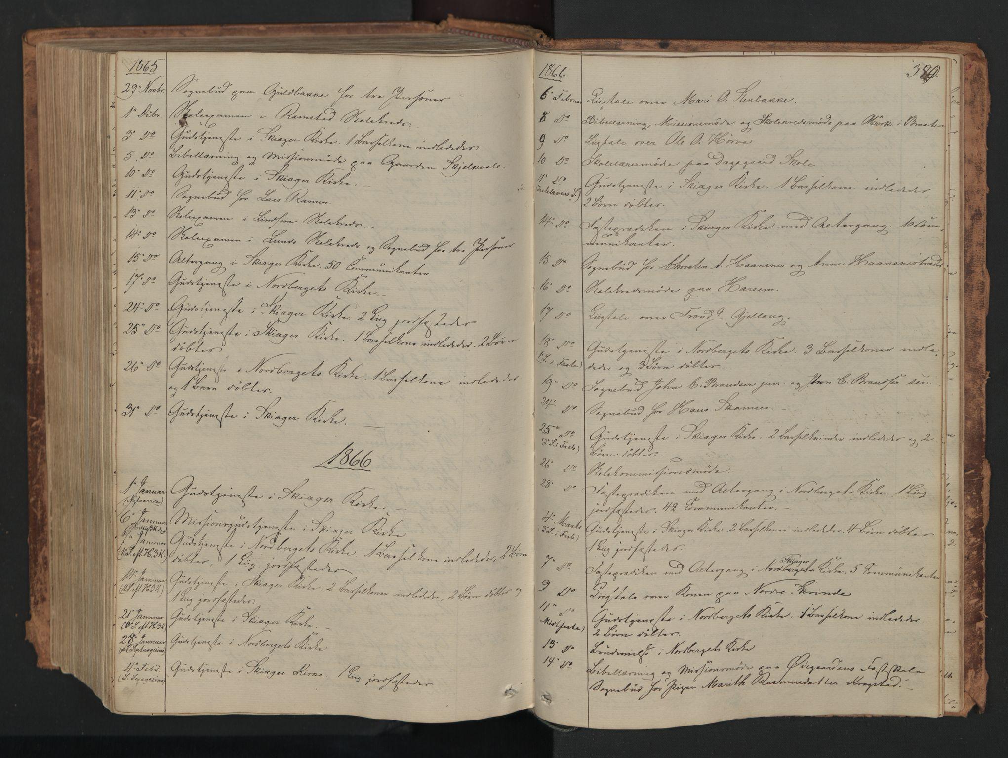 SAH, Skjåk prestekontor, Ministerialbok nr. 1, 1863-1879, s. 380