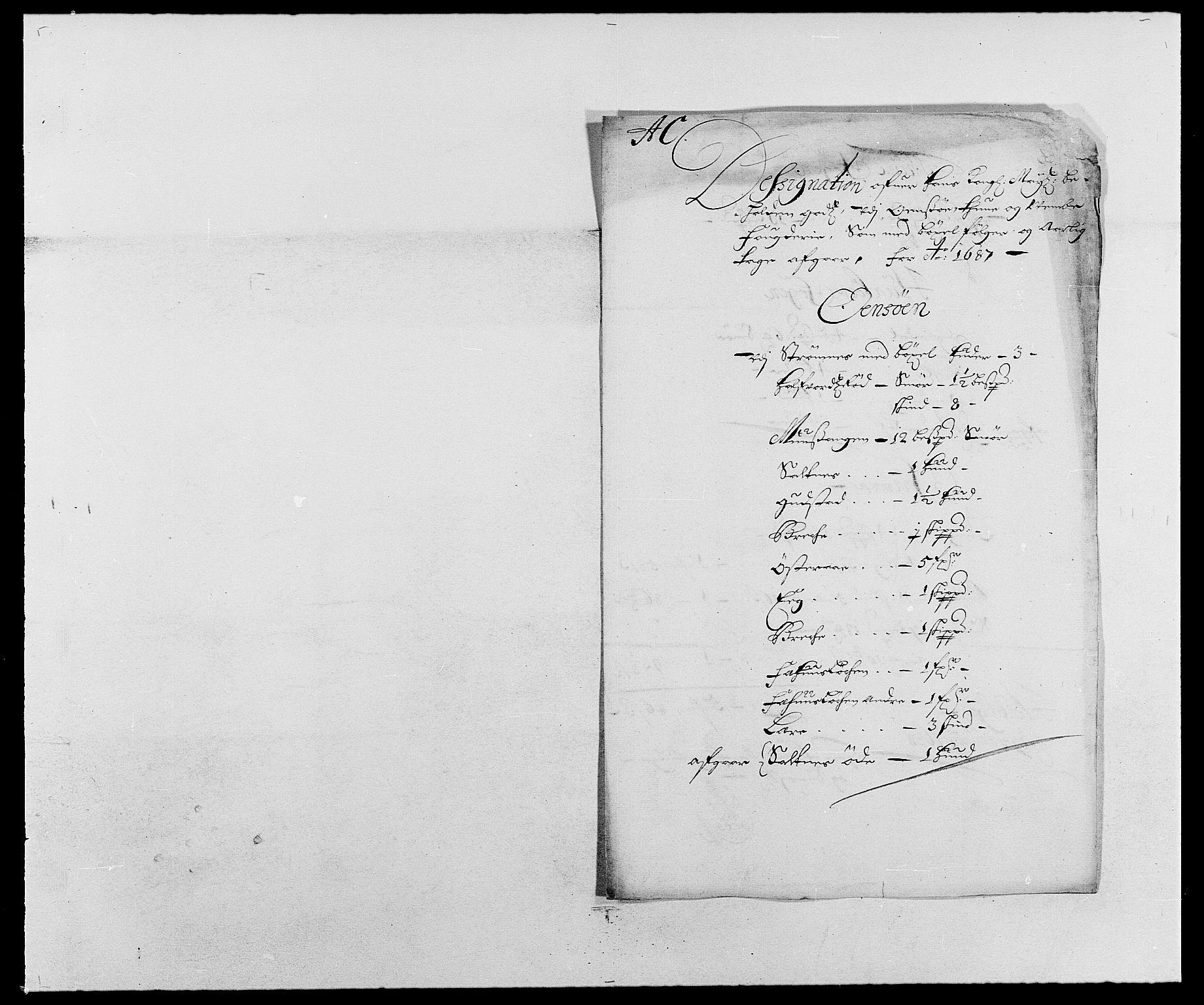 RA, Rentekammeret inntil 1814, Reviderte regnskaper, Fogderegnskap, R03/L0117: Fogderegnskap Onsøy, Tune, Veme og Åbygge fogderi, 1684-1689, s. 114