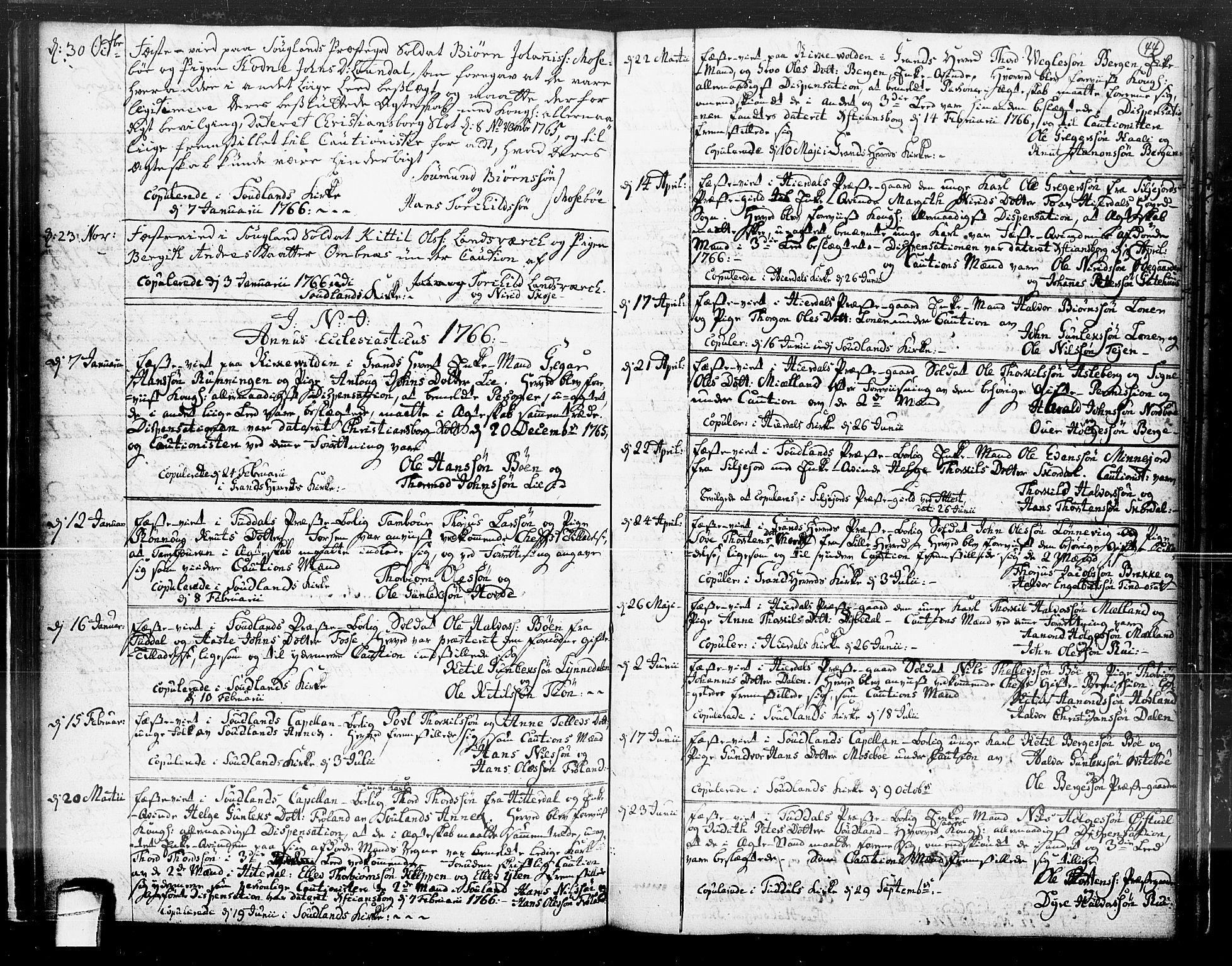 SAKO, Hjartdal kirkebøker, F/Fa/L0004: Ministerialbok nr. I 4, 1727-1795, s. 44