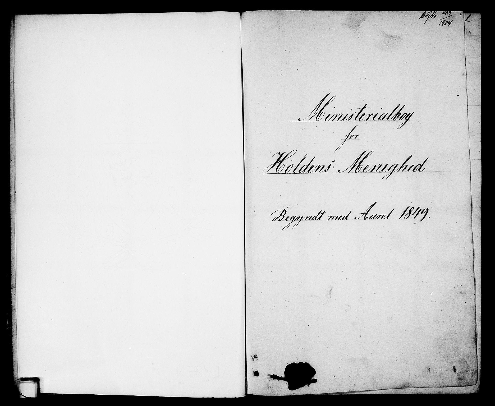 SAKO, Holla kirkebøker, G/Ga/L0003: Klokkerbok nr. I 3, 1849-1866