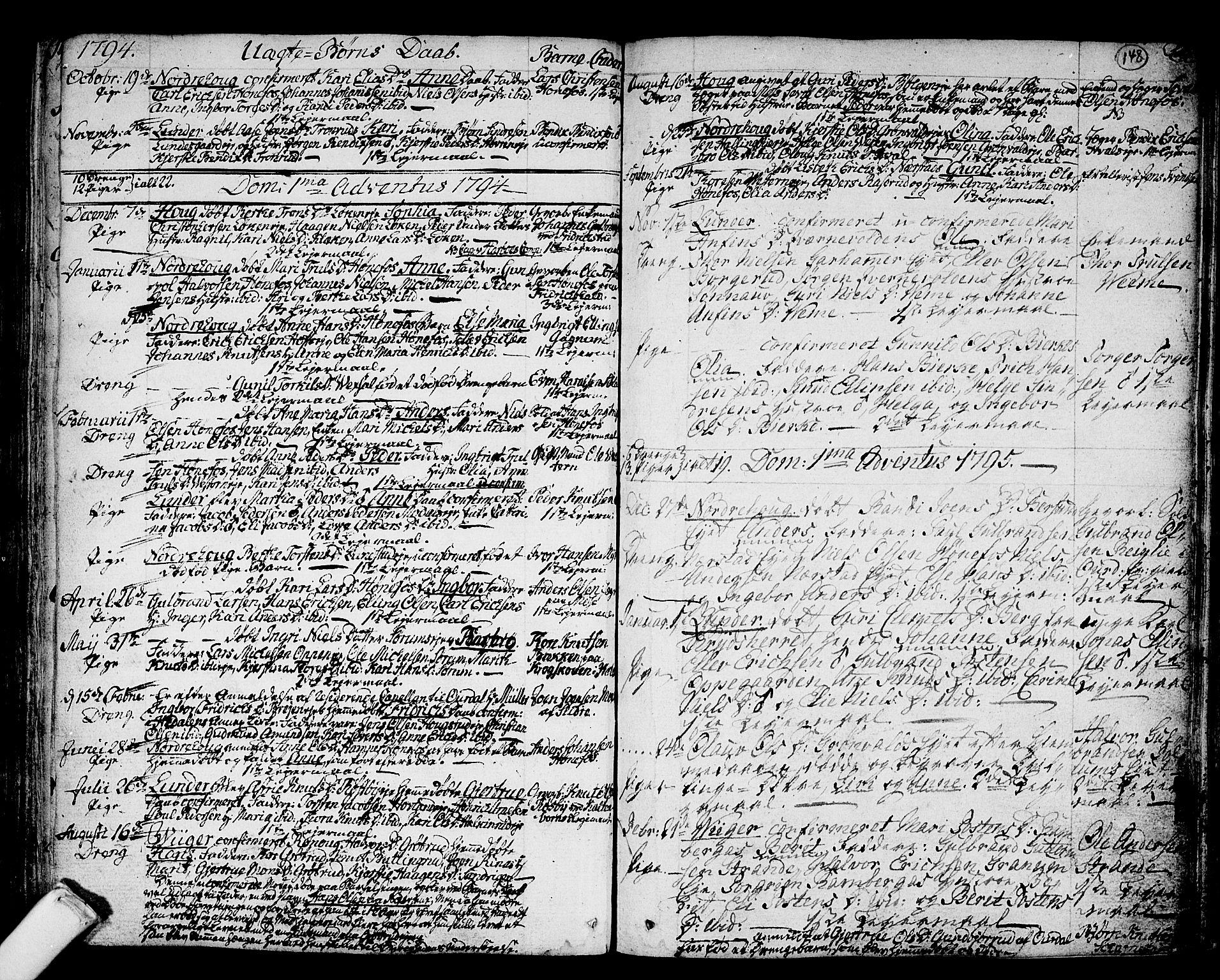 SAKO, Norderhov kirkebøker, F/Fa/L0006: Ministerialbok nr. 6, 1789-1811, s. 148