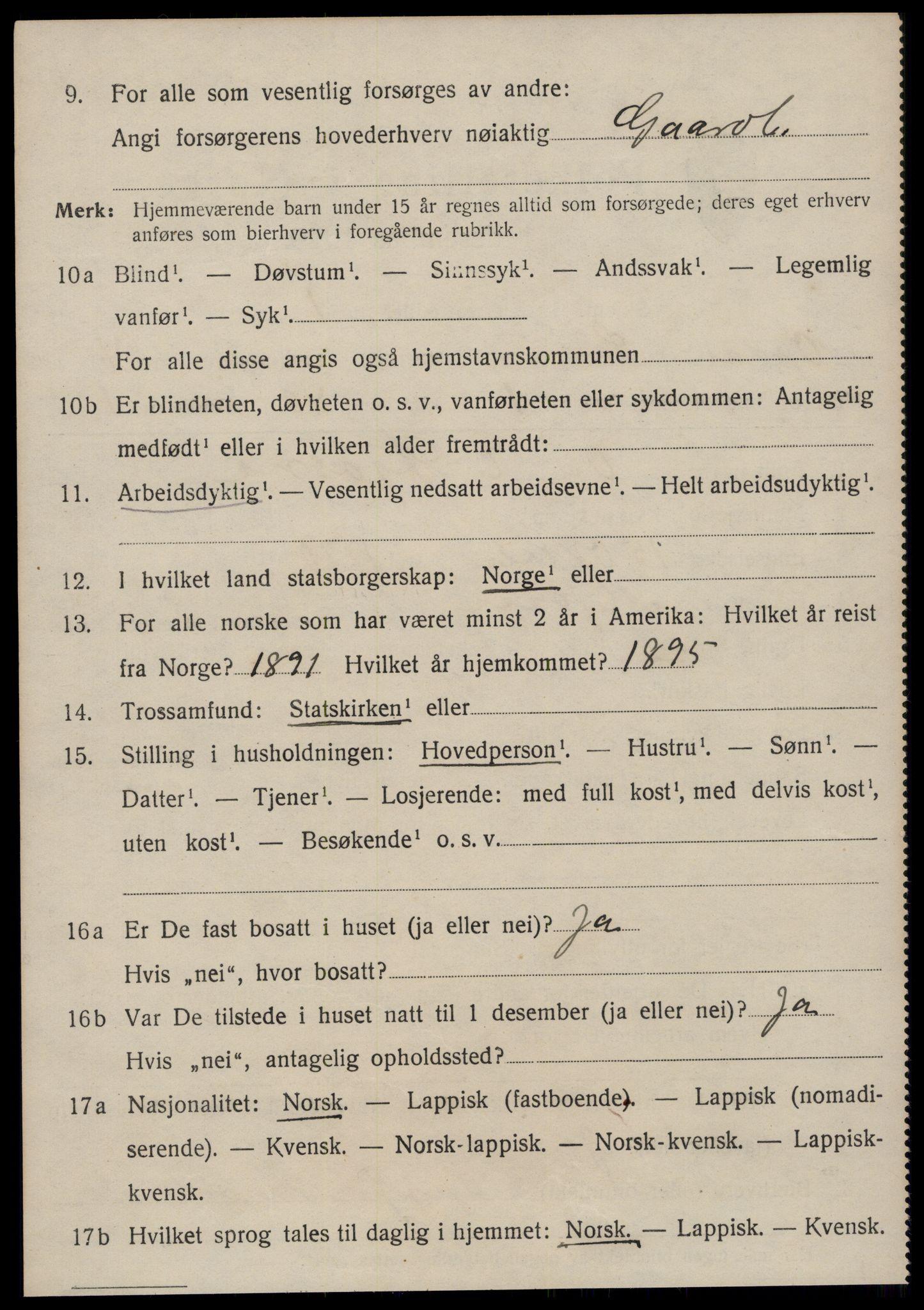 SAT, Folketelling 1920 for 1634 Oppdal herred, 1920, s. 4024
