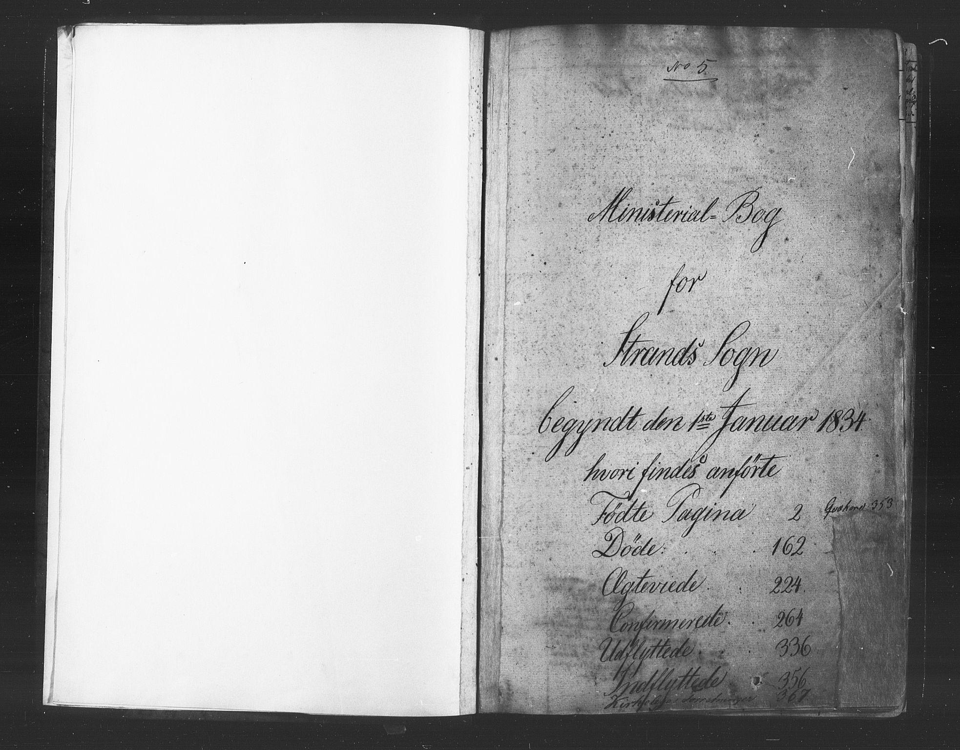 SAST, Strand sokneprestkontor, H/Ha/Haa/L0006: Ministerialbok nr. A 6, 1834-1854