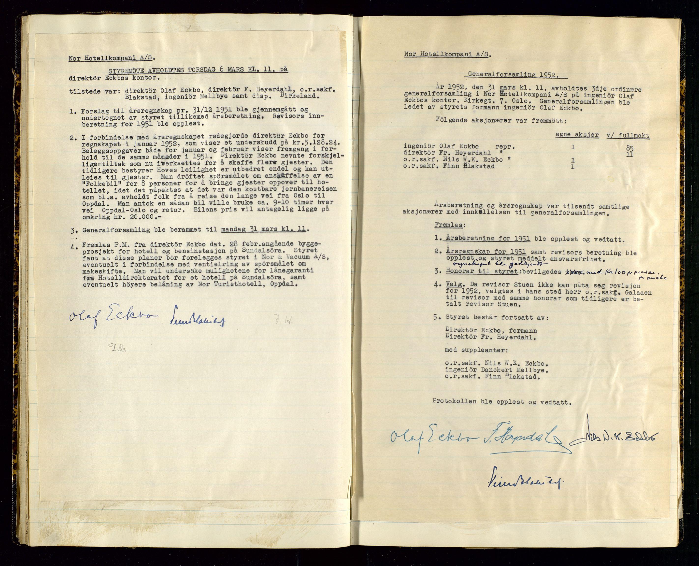 SAST, PA 1516 - Nor Hotellkompani A/S, A/L0001: Referatprotokoll, 1948-1855, s. 25
