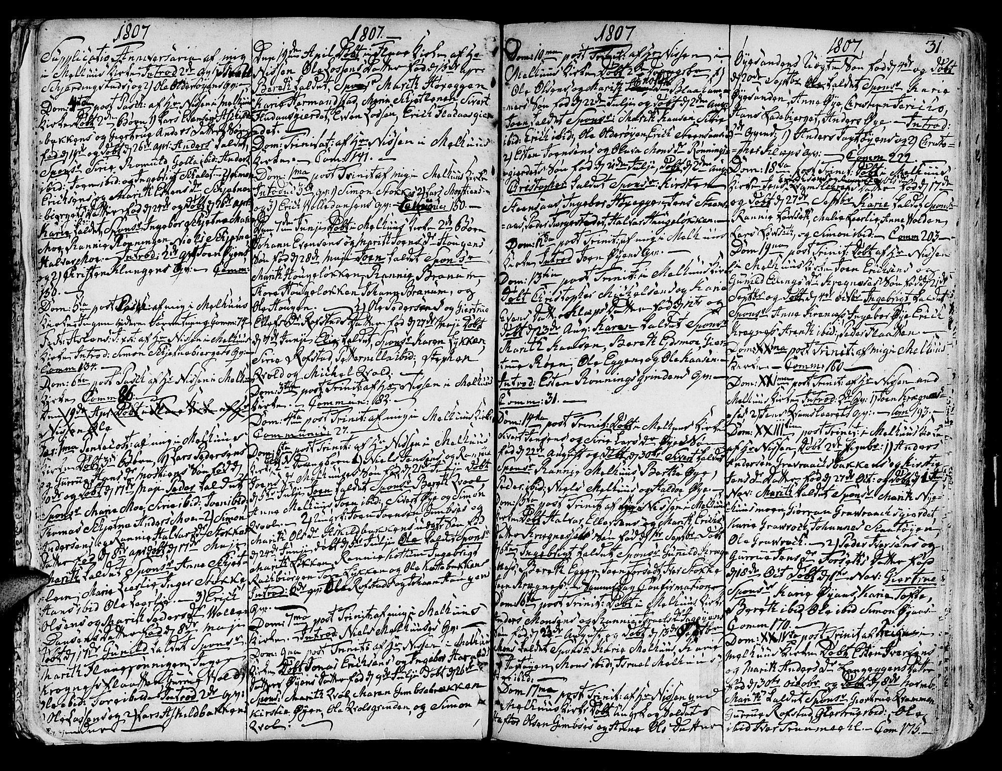 SAT, Ministerialprotokoller, klokkerbøker og fødselsregistre - Sør-Trøndelag, 691/L1061: Ministerialbok nr. 691A02 /1, 1768-1815, s. 31