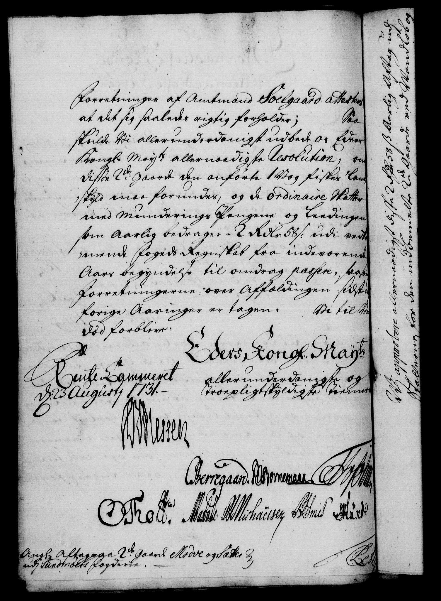 RA, Rentekammeret, Kammerkanselliet, G/Gf/Gfa/L0014: Norsk relasjons- og resolusjonsprotokoll (merket RK 52.14), 1731, s. 305