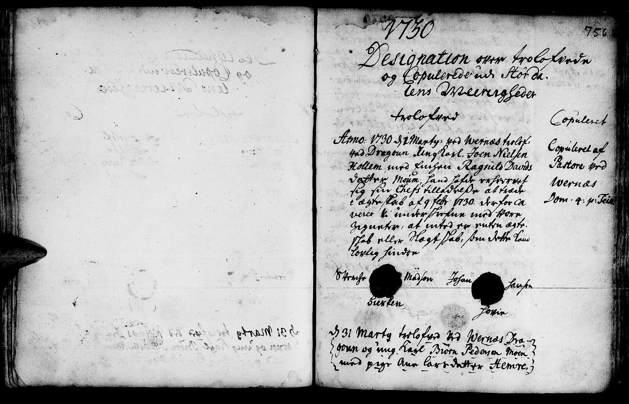 SAT, Ministerialprotokoller, klokkerbøker og fødselsregistre - Nord-Trøndelag, 709/L0055: Ministerialbok nr. 709A03, 1730-1739, s. 755-756