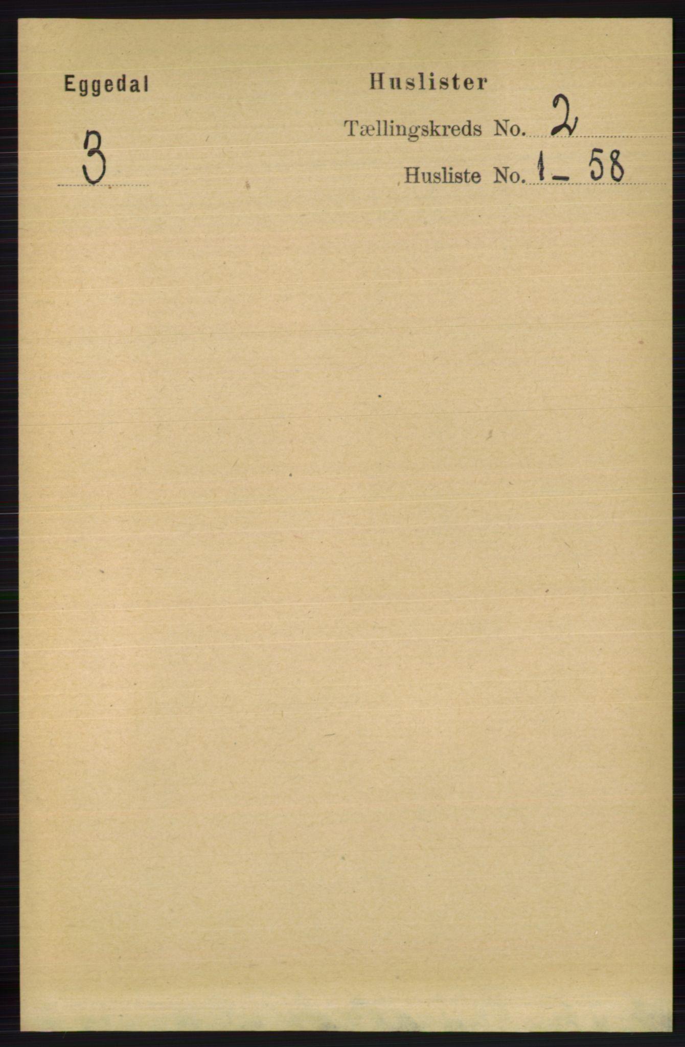 RA, Folketelling 1891 for 0621 Sigdal herred, 1891, s. 3857