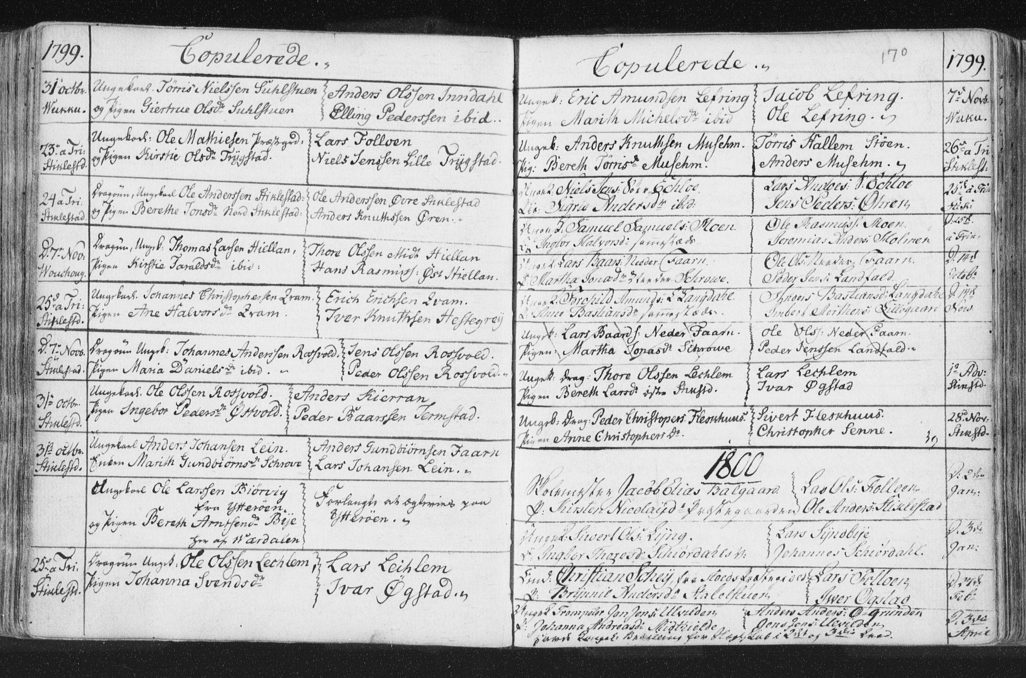 SAT, Ministerialprotokoller, klokkerbøker og fødselsregistre - Nord-Trøndelag, 723/L0232: Ministerialbok nr. 723A03, 1781-1804, s. 170