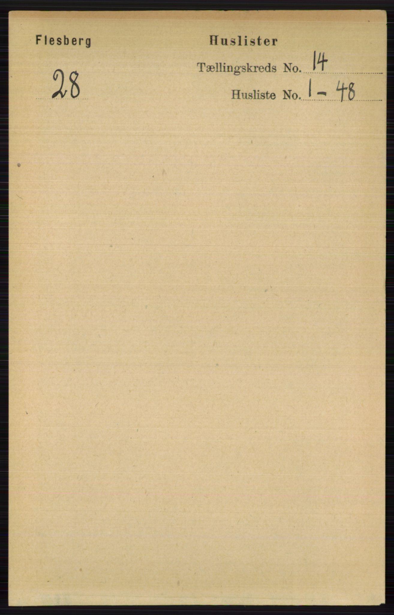RA, Folketelling 1891 for 0631 Flesberg herred, 1891, s. 2406