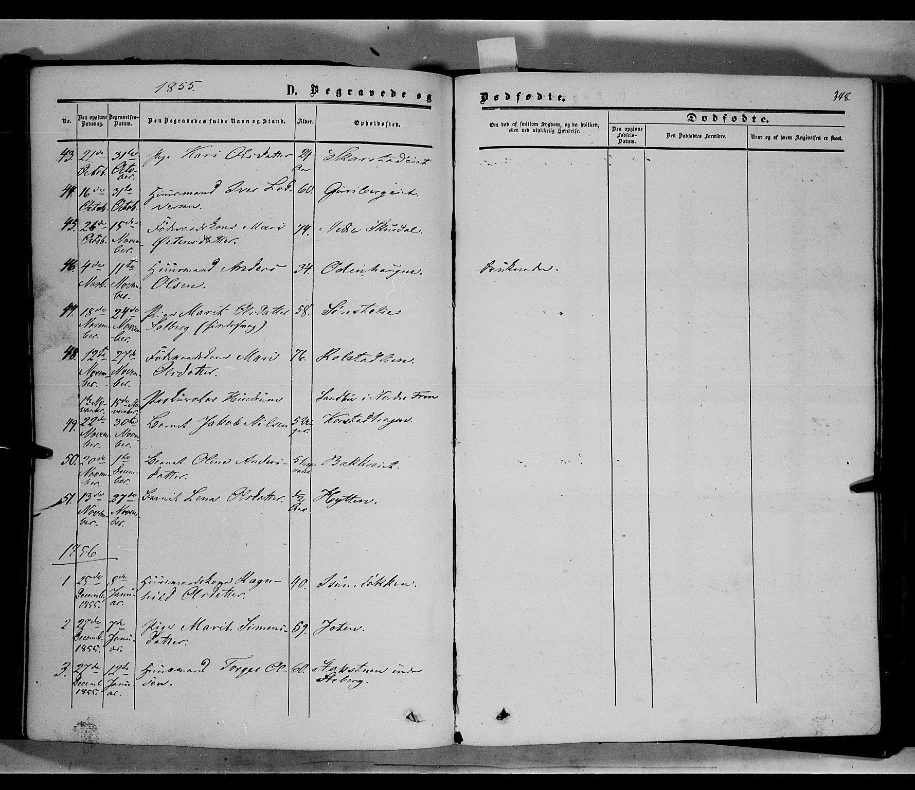 SAH, Sør-Fron prestekontor, H/Ha/Haa/L0001: Ministerialbok nr. 1, 1849-1863, s. 348