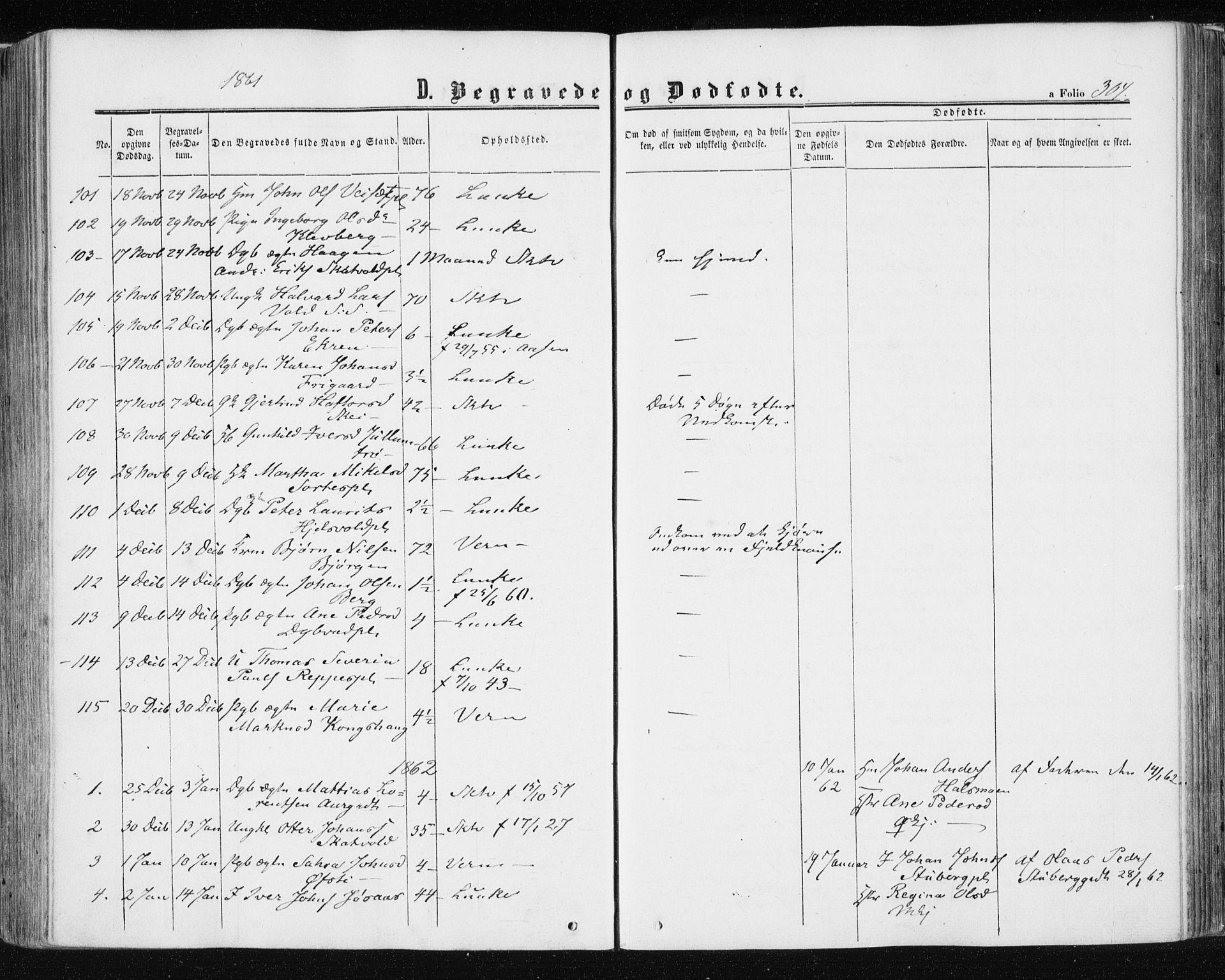 SAT, Ministerialprotokoller, klokkerbøker og fødselsregistre - Nord-Trøndelag, 709/L0075: Ministerialbok nr. 709A15, 1859-1870, s. 304