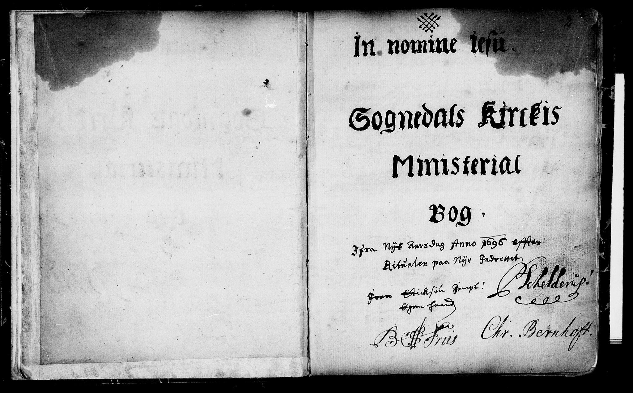 SAT, Ministerialprotokoller, klokkerbøker og fødselsregistre - Sør-Trøndelag, 689/L1036: Ministerialbok nr. 689A01, 1696-1746, s. 2