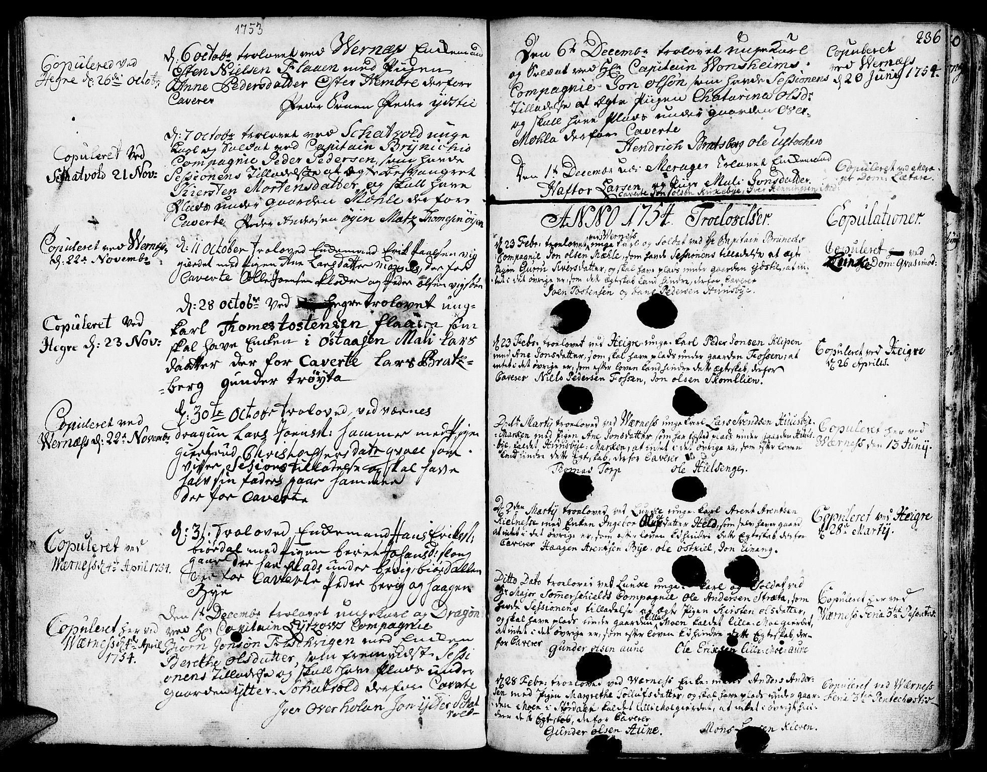 SAT, Ministerialprotokoller, klokkerbøker og fødselsregistre - Nord-Trøndelag, 709/L0056: Ministerialbok nr. 709A04, 1740-1756, s. 236