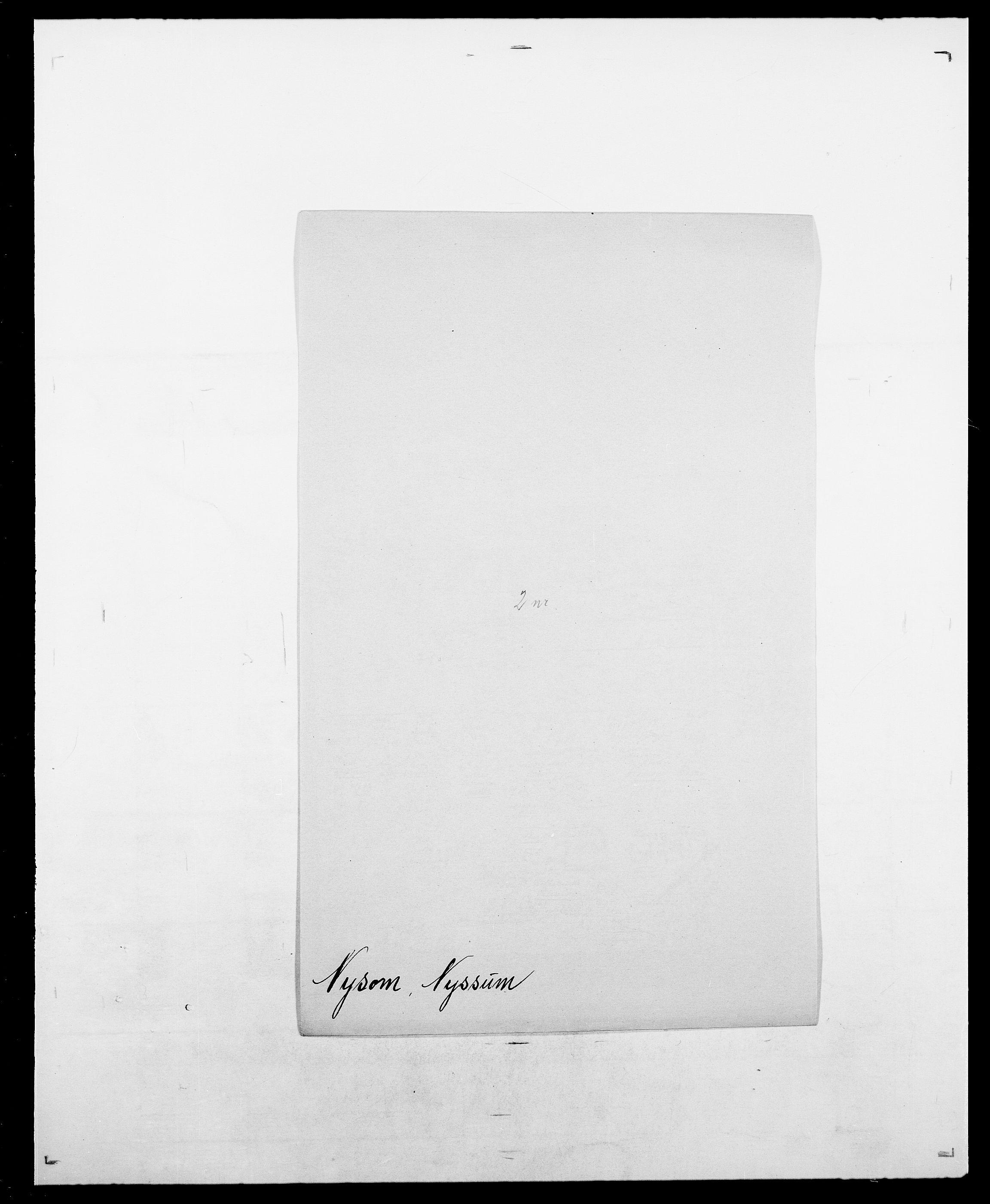 SAO, Delgobe, Charles Antoine - samling, D/Da/L0028: Naaden - Nøvik, s. 581