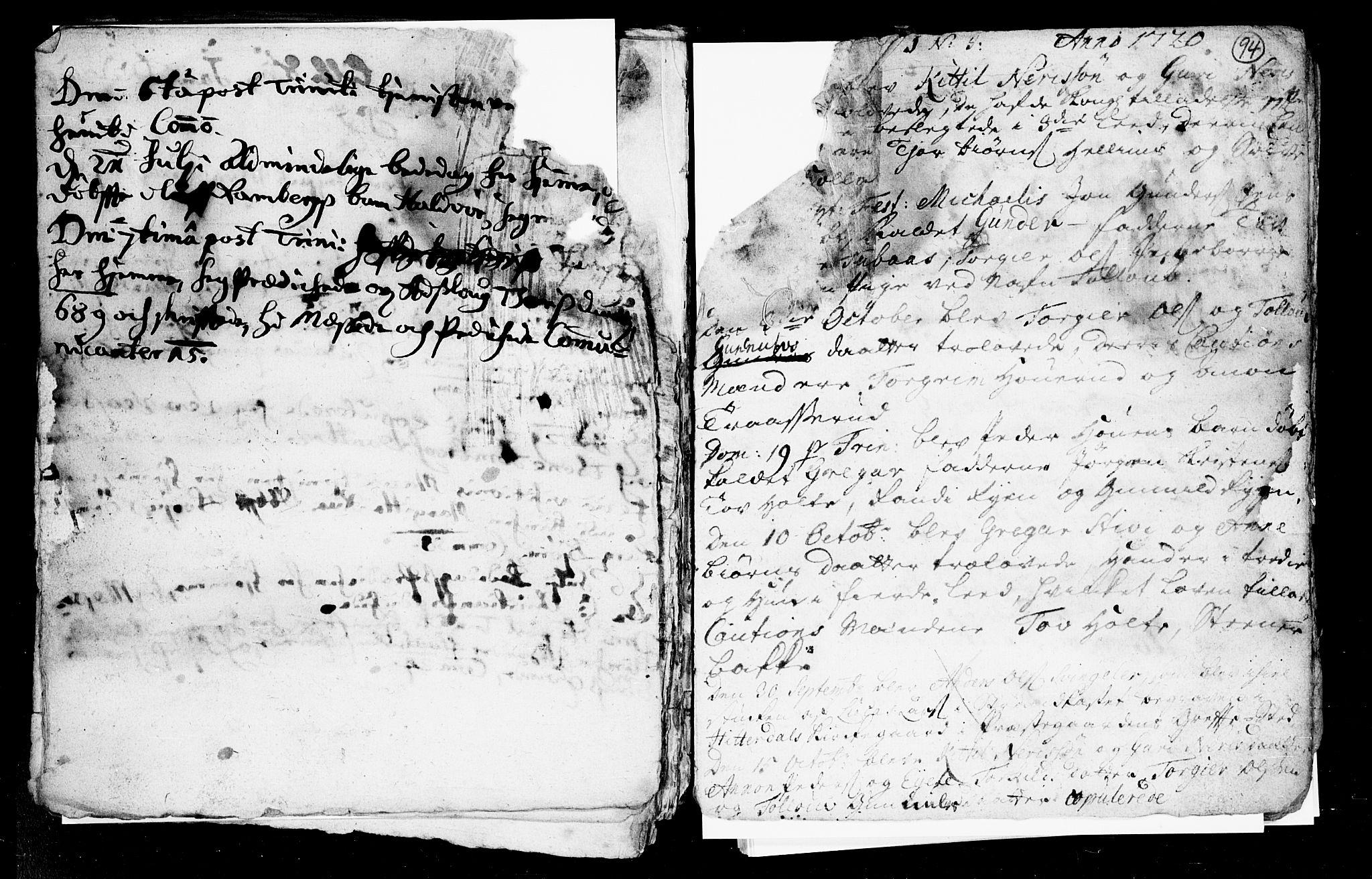 SAKO, Heddal kirkebøker, F/Fa/L0002: Ministerialbok nr. I 2, 1699-1722, s. 94