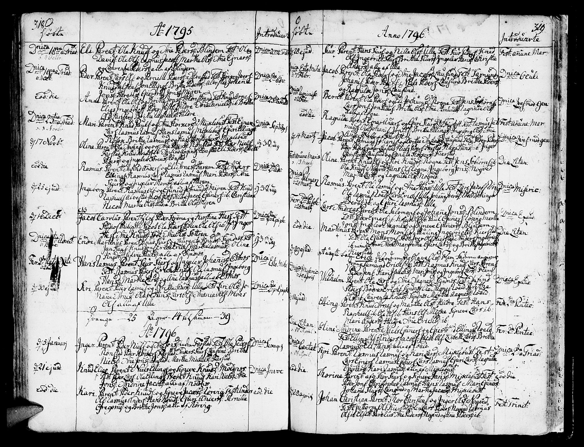 SAT, Ministerialprotokoller, klokkerbøker og fødselsregistre - Møre og Romsdal, 536/L0493: Ministerialbok nr. 536A02, 1739-1802, s. 318-319