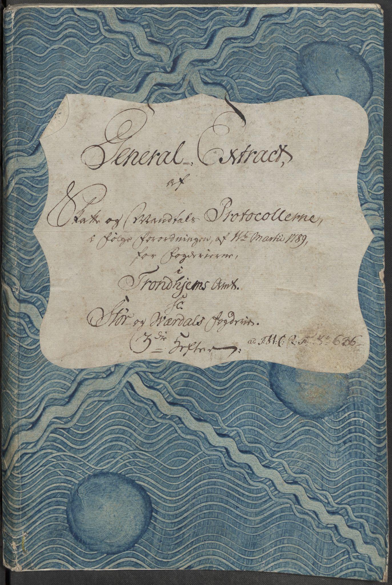 RA, Rentekammeret inntil 1814, Reviderte regnskaper, Mindre regnskaper, Rf/Rfe/L0045: Stavanger, Stjørdal og Verdal fogderi, 1789, s. 175