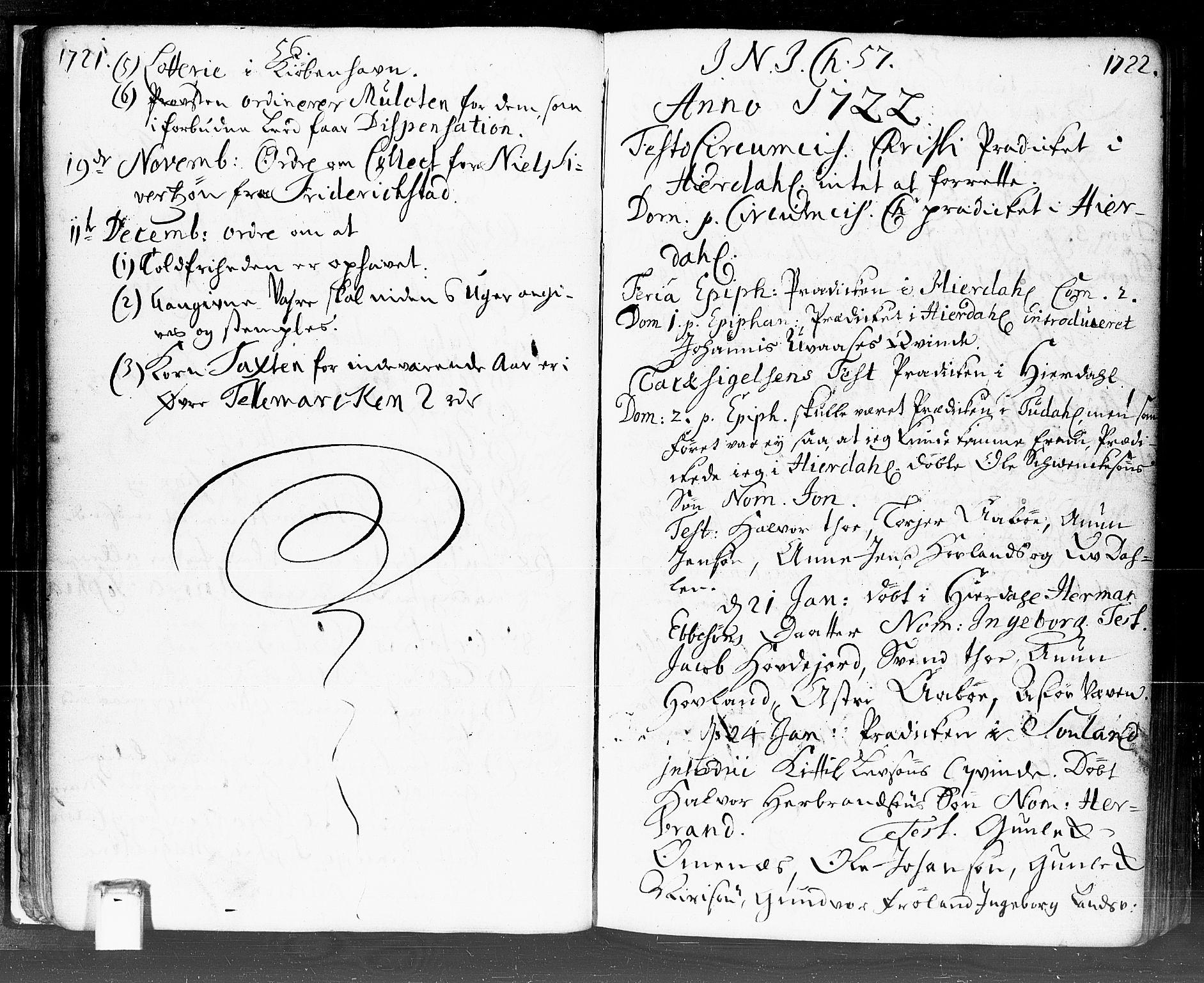 SAKO, Hjartdal kirkebøker, F/Fa/L0002: Ministerialbok nr. I 2, 1716-1754, s. 56-57