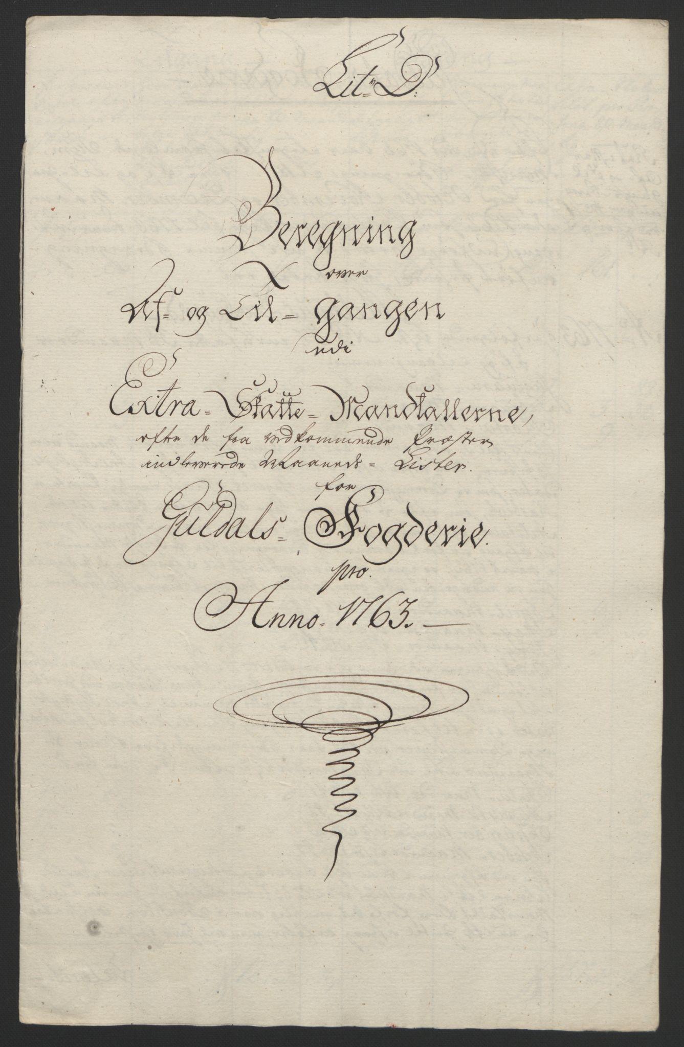 RA, Rentekammeret inntil 1814, Reviderte regnskaper, Fogderegnskap, R60/L4094: Ekstraskatten Orkdal og Gauldal, 1762-1765, s. 101