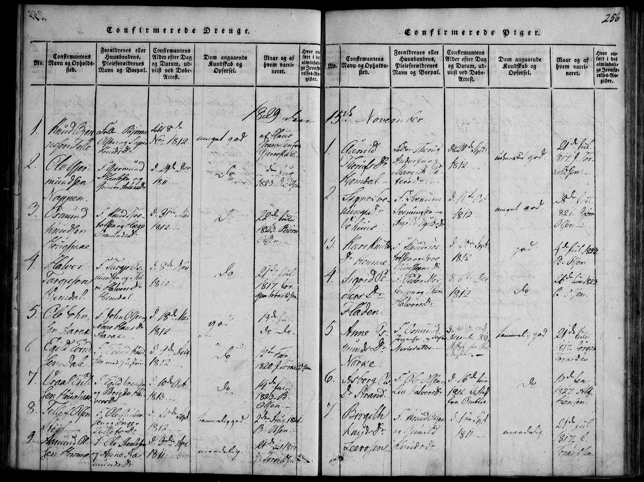 SAKO, Nissedal kirkebøker, F/Fb/L0001: Ministerialbok nr. II 1, 1814-1845, s. 256