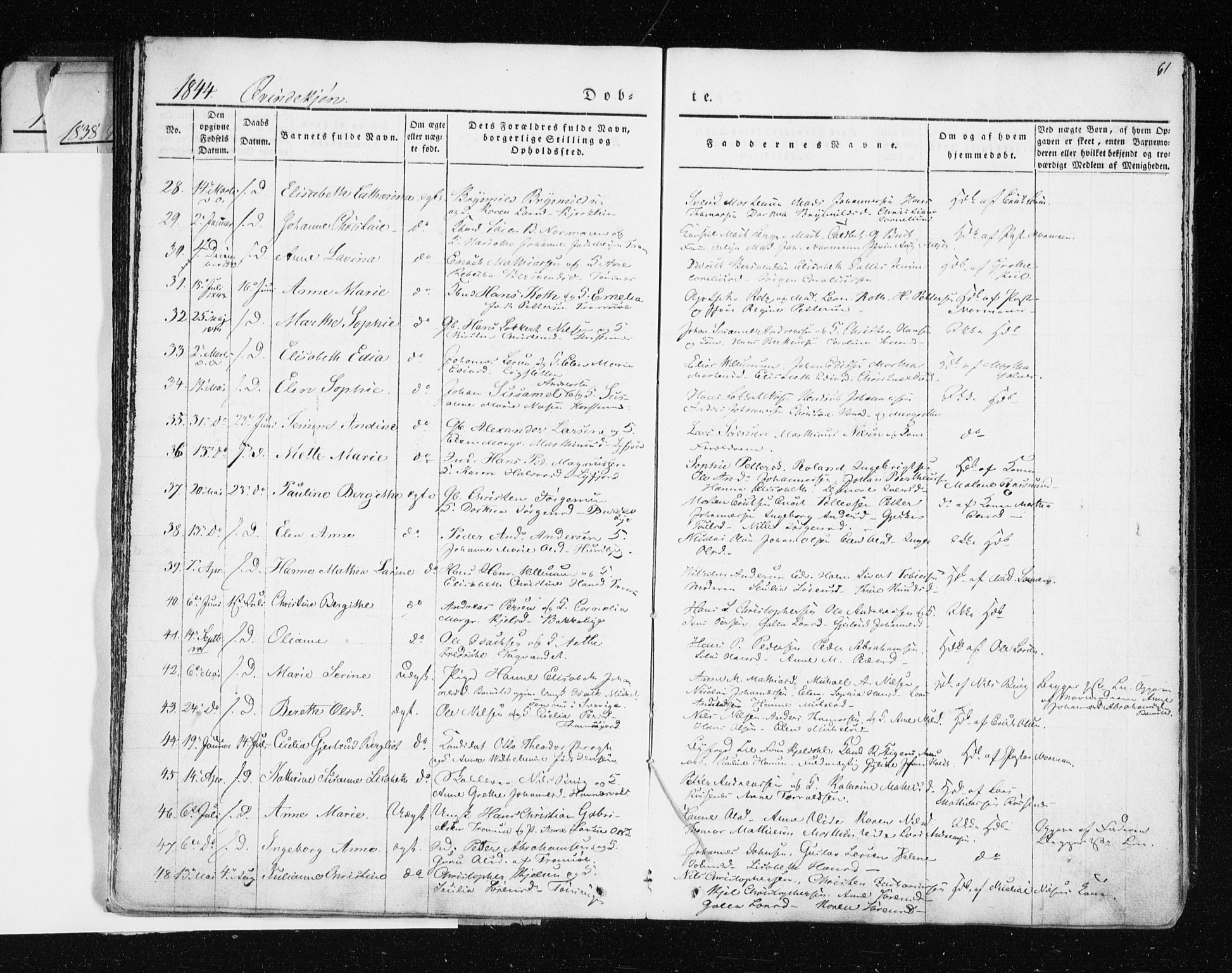 SATØ, Tromsø sokneprestkontor/stiftsprosti/domprosti, G/Ga/L0009kirke: Ministerialbok nr. 9, 1837-1847, s. 61