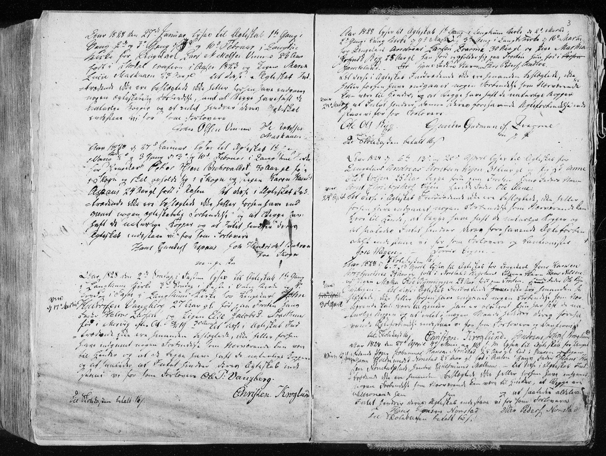 SAT, Ministerialprotokoller, klokkerbøker og fødselsregistre - Nord-Trøndelag, 713/L0114: Ministerialbok nr. 713A05, 1827-1839, s. 3