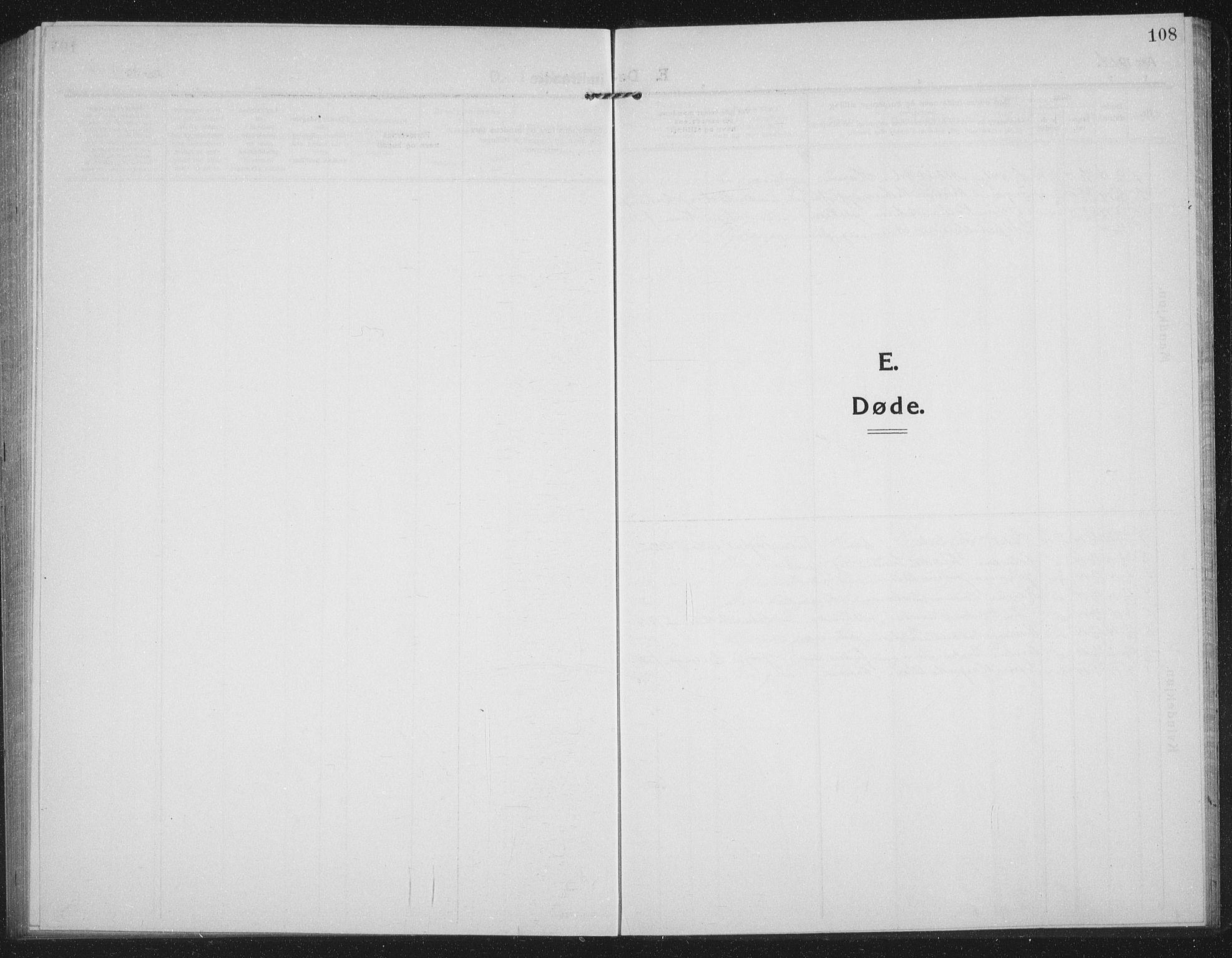 SATØ, Tranøy sokneprestkontor, I/Ia/Iab/L0019klokker: Klokkerbok nr. 19, 1914-1940, s. 108