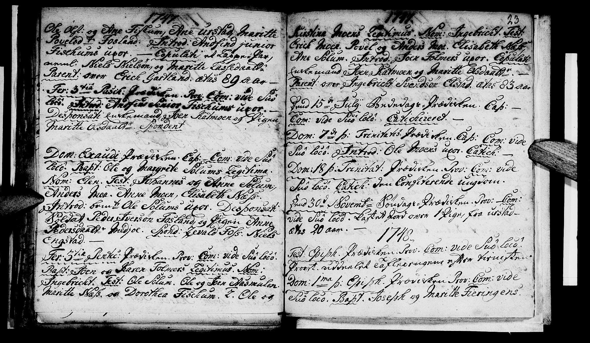 SAT, Ministerialprotokoller, klokkerbøker og fødselsregistre - Nord-Trøndelag, 759/L0525: Ministerialbok nr. 759A01, 1706-1748, s. 23